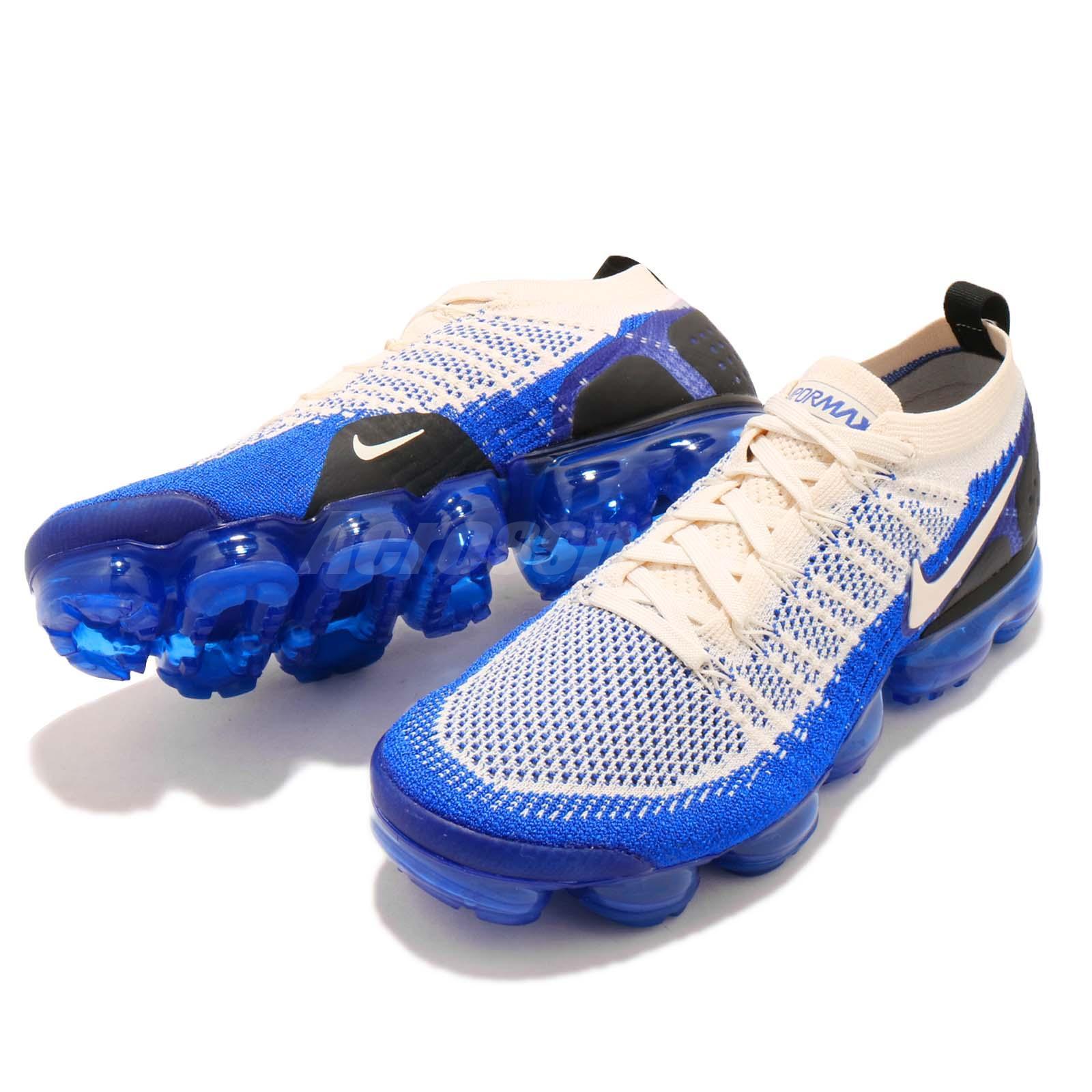 1f88e99a03 Nike Air Vapormax Flyknit 2 Light Cream Blue Mens Running Shoes Max 942842- 204 Men