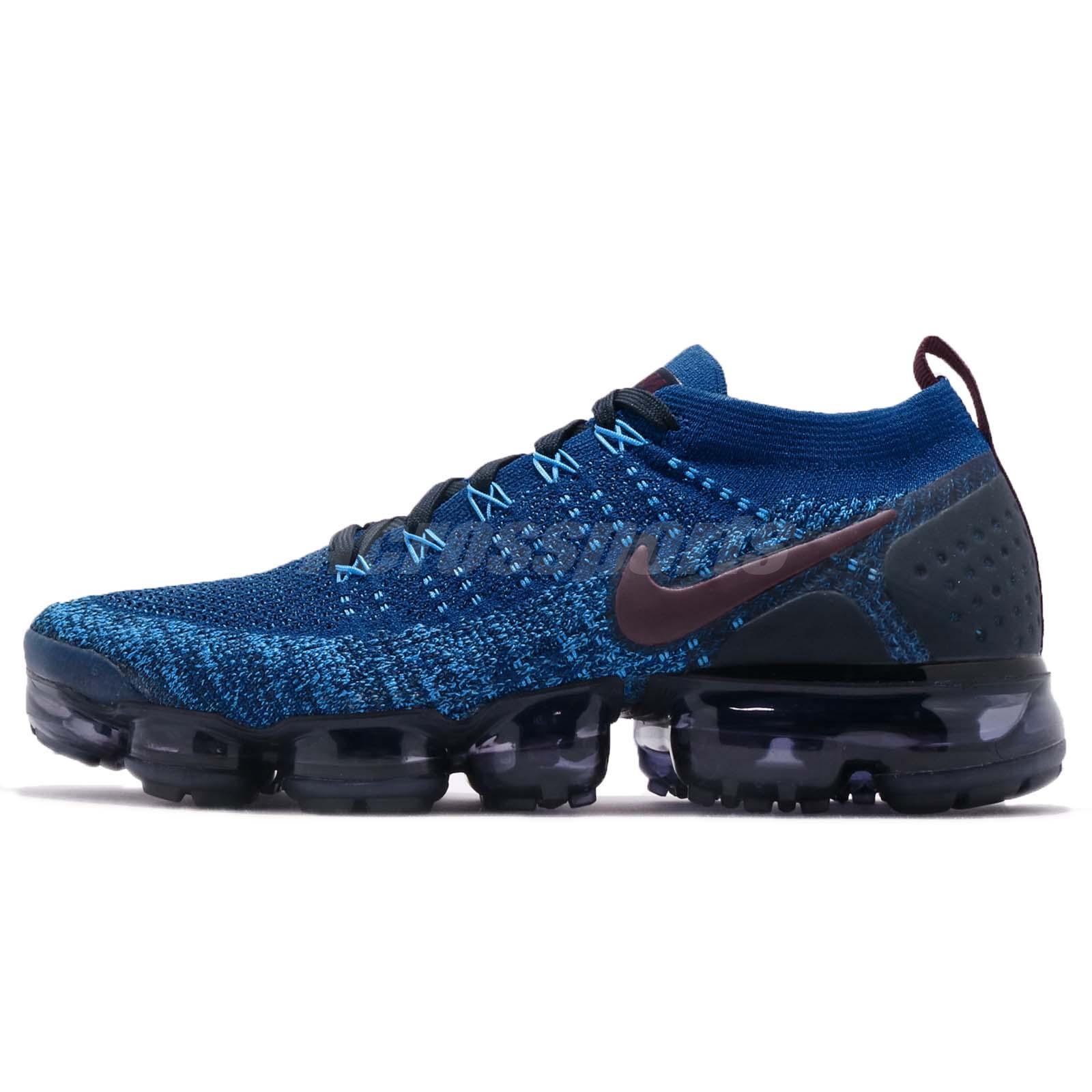 4bba3a986201 Nike Air Vapormax Flyknit 2 II Gym Blue Navy Men Running Shoe Sneaker  942842-401