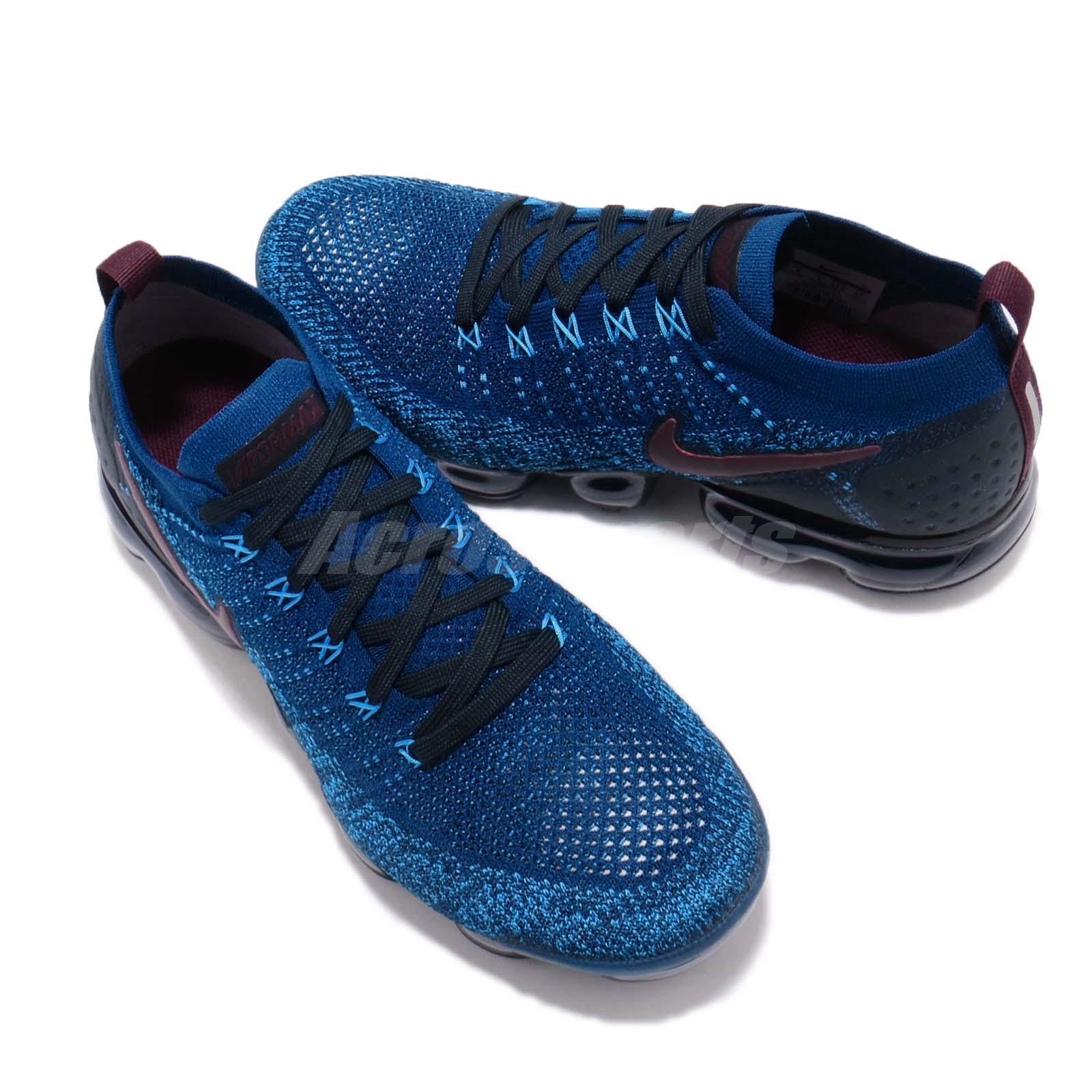 8418a9a84f44 Nike Air Vapormax Flyknit 2 II Gym Blue Navy Men Running Shoe ...