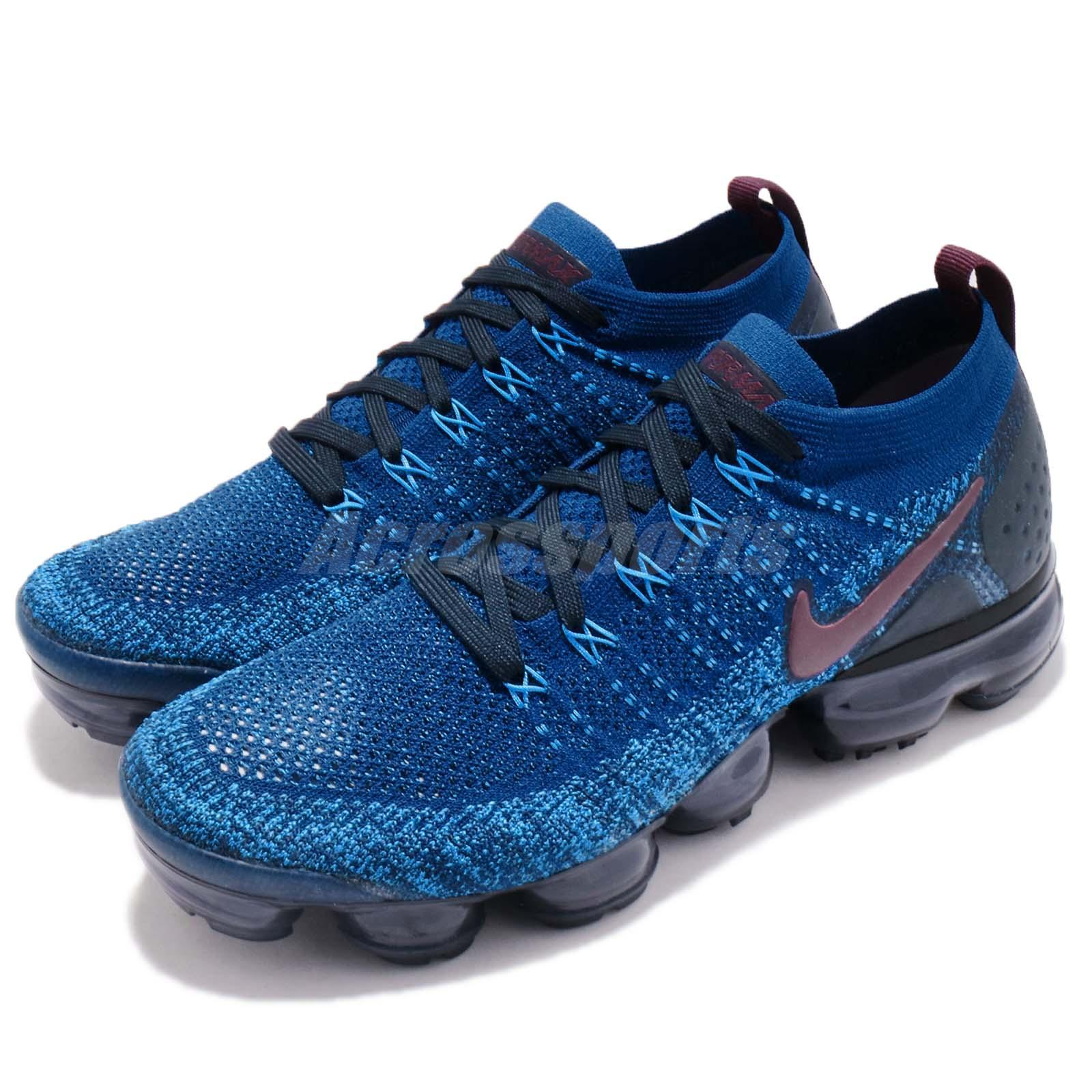 a08608902f282 Details about Nike Air Vapormax Flyknit 2 II Gym Blue Navy Men Running Shoe  Sneaker 942842-401