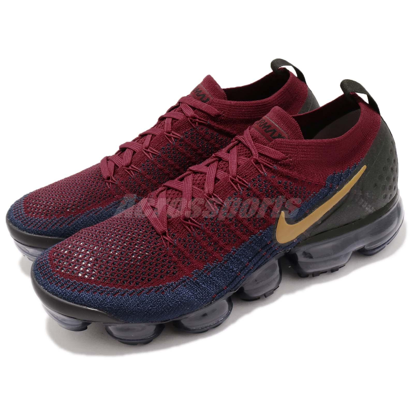 4297bfdad18b Details about Nike Air Vapormax Flyknit 2 II Olympic Red Wheat Navy Black  Men Shoes 942842-604