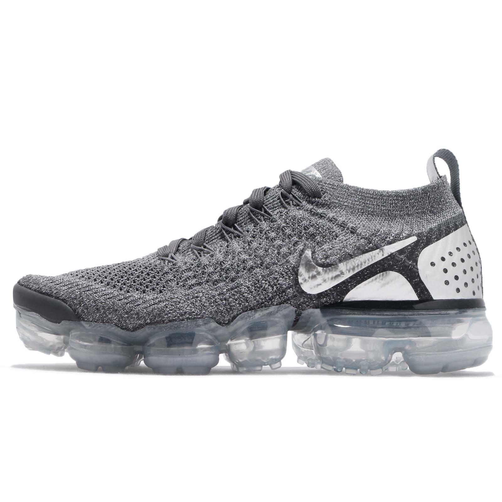 Details about Nike Wmns Air Vapormax Flyknit 2 Dark Grey Chrome Women Running Shoes 942843 013