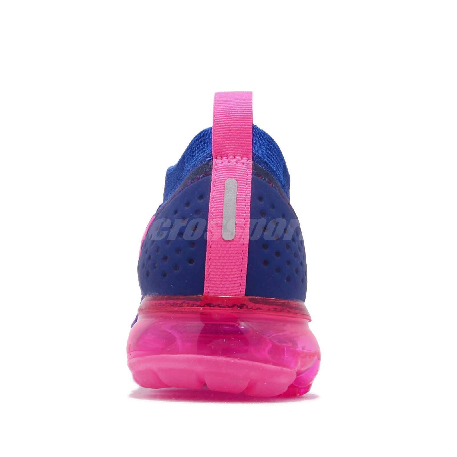 dd6843a696f52 Nike Wmns Air Vapormax Flyknit 2 Racer Pink Blue Women Running Shoes ...
