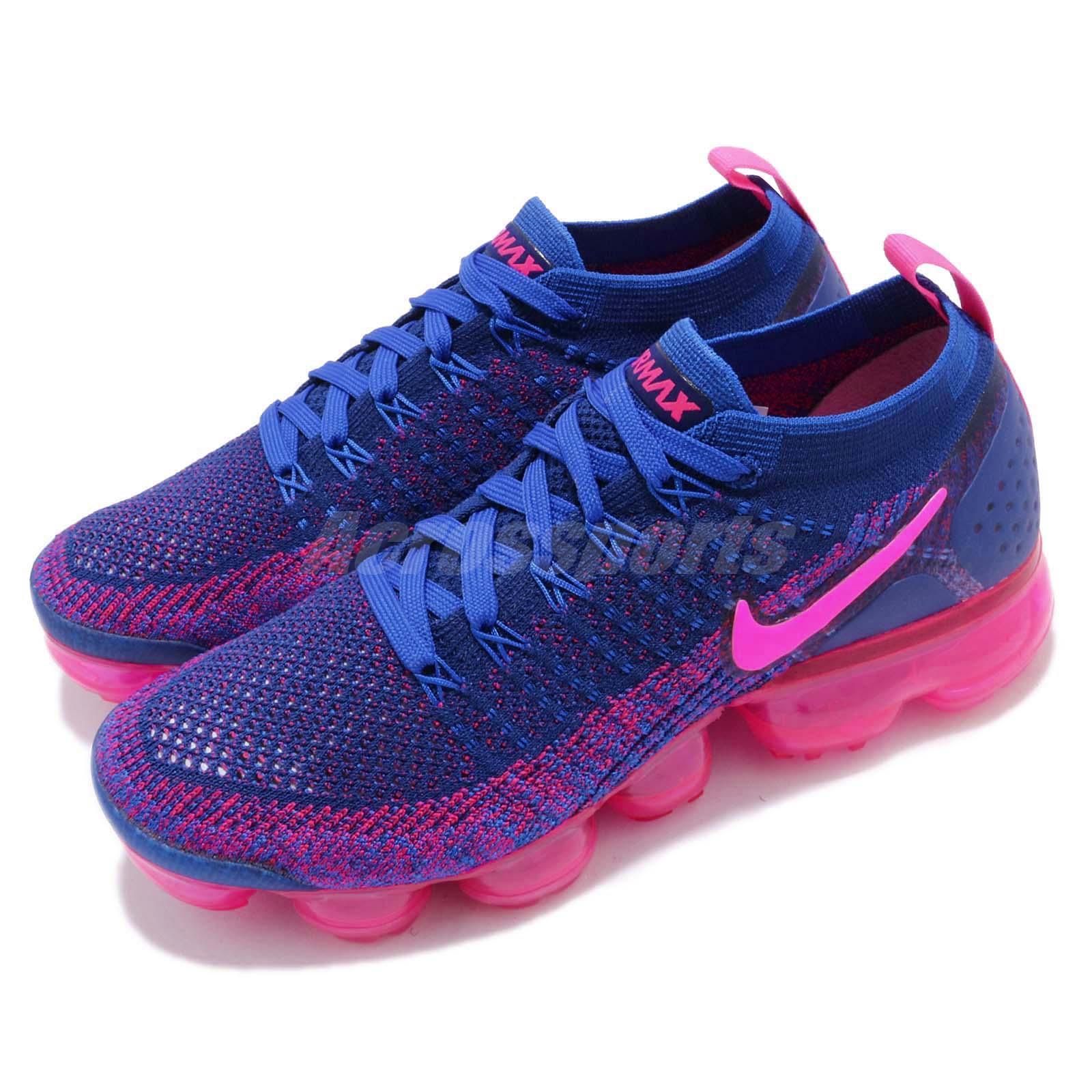 best service b13b3 82718 Details about Nike Wmns Air Vapormax Flyknit 2 Racer Pink Blue Women  Running Shoes 942843-601