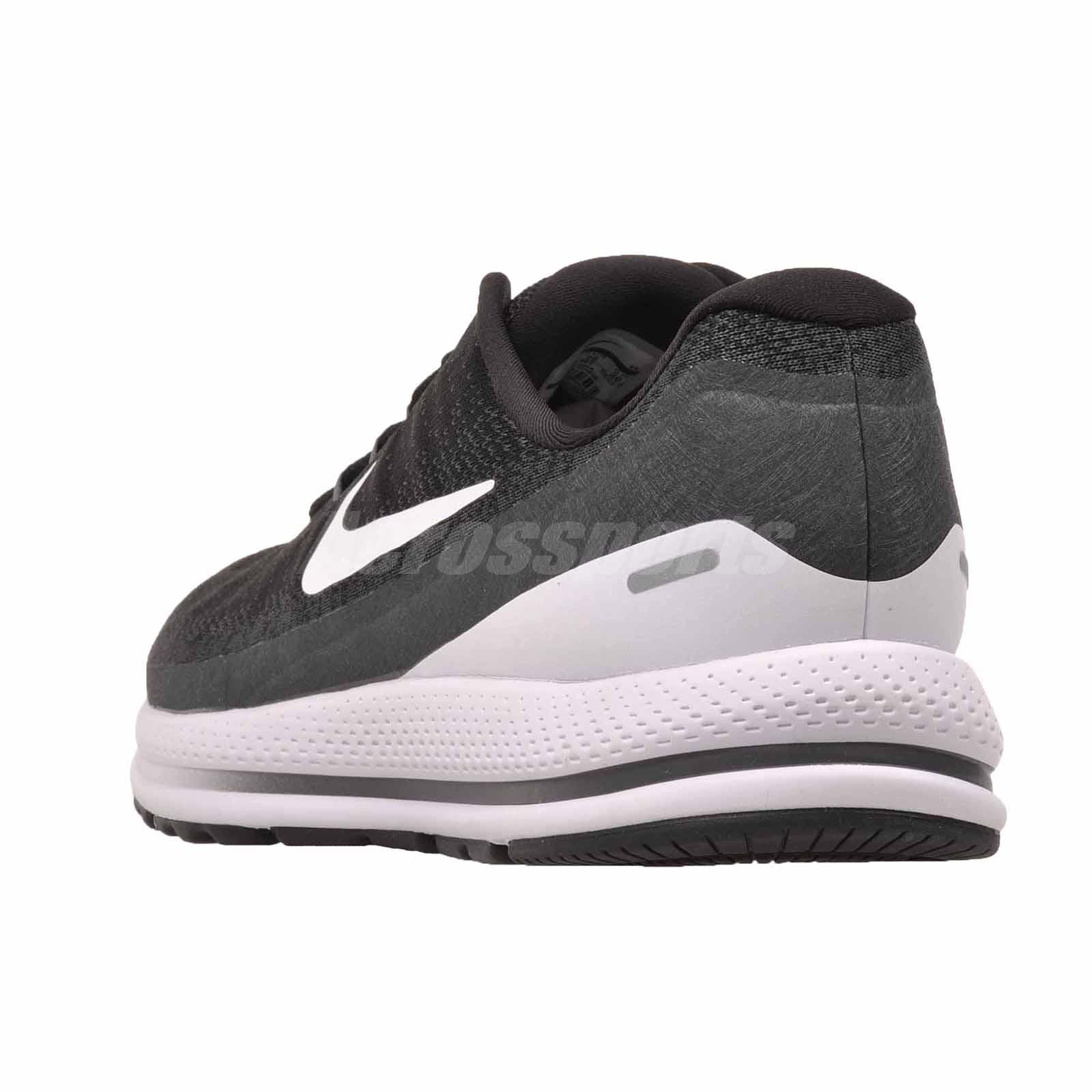 73230b8aeb8 Nike Air Zoom Vomero 13 (4E) Running Mens Shoes Wide Black White ...