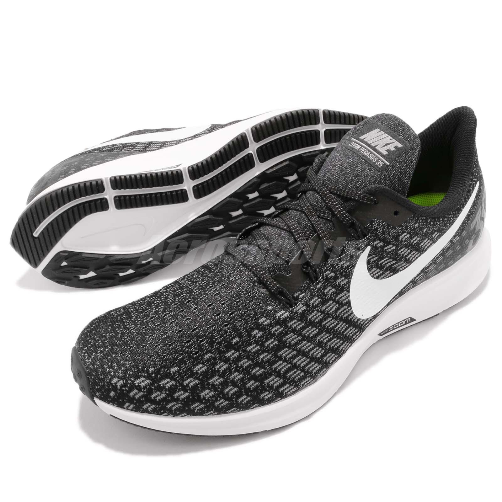 Nike Air Zoom Pegasus 35 Black White Grey Men Running Shoes Sneakers ... 154c273ca