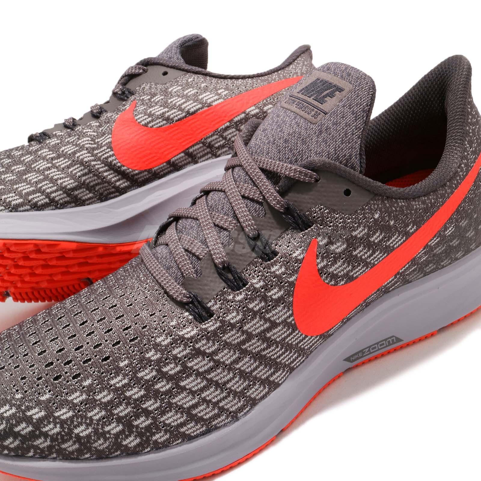 official photos 66eba ae46f Details about Nike Air Zoom Pegasus 35 Thunder Grey Bright Crimson Men  Running Shoe 942851-006