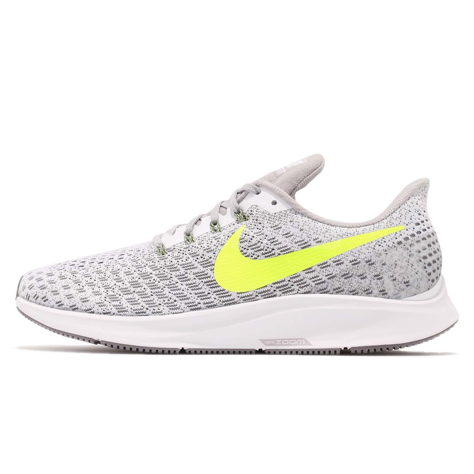 2c8d06258ee7 Nike Air Zoom Pegasus 35 White Volt Grey Men Running Shoes Sneakers 942851 -101