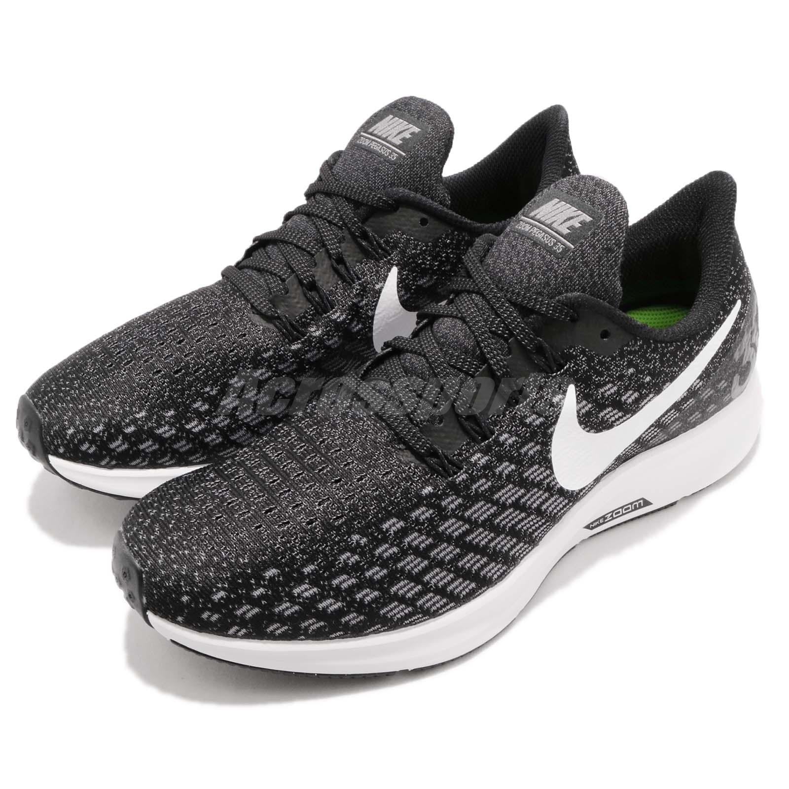 Nike Air Zoom Pegasus 35 Black White Running Shoes 942855 001