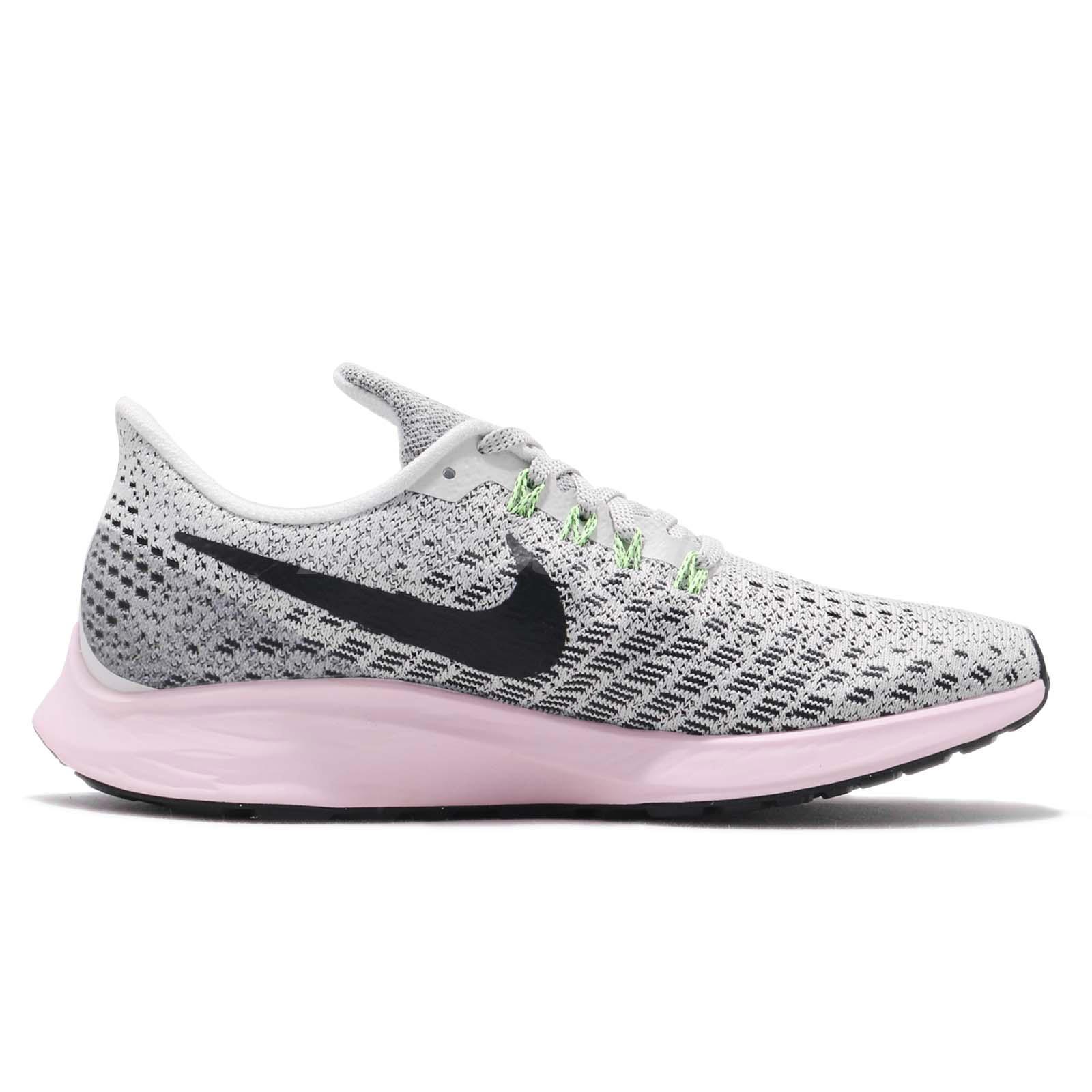 pick up d4e73 9a456 Details about Nike Wmns Air Zoom Pegasus 35 Vast Grey Black Pink Women  Running Shoe 942855-011