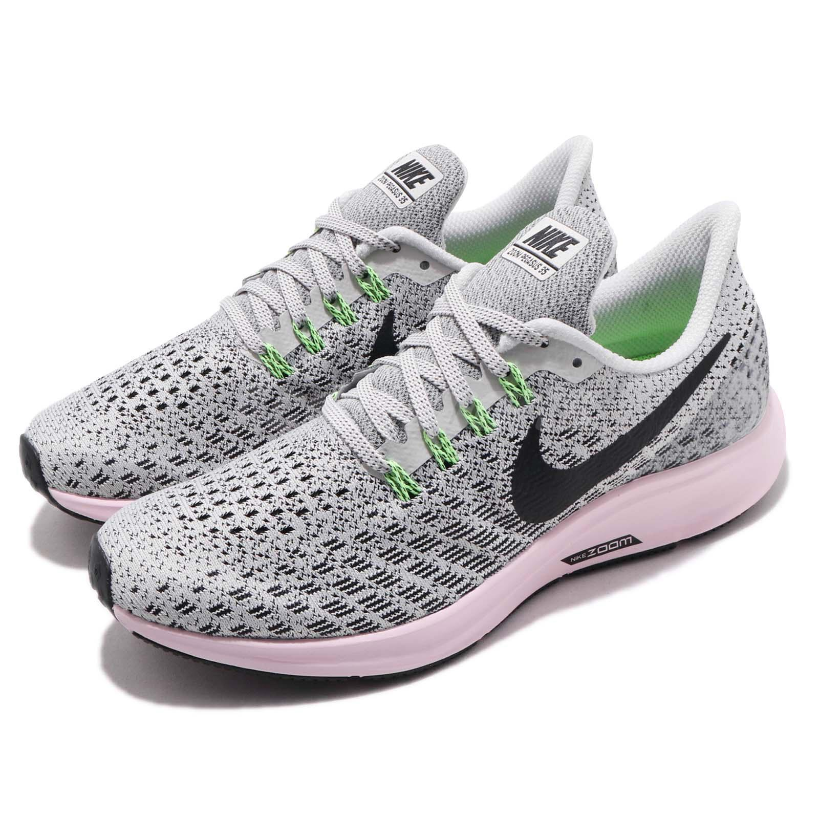 d96b292bf14a Details about Nike Wmns Air Zoom Pegasus 35 Vast Grey Black Pink Women  Running Shoe 942855-011