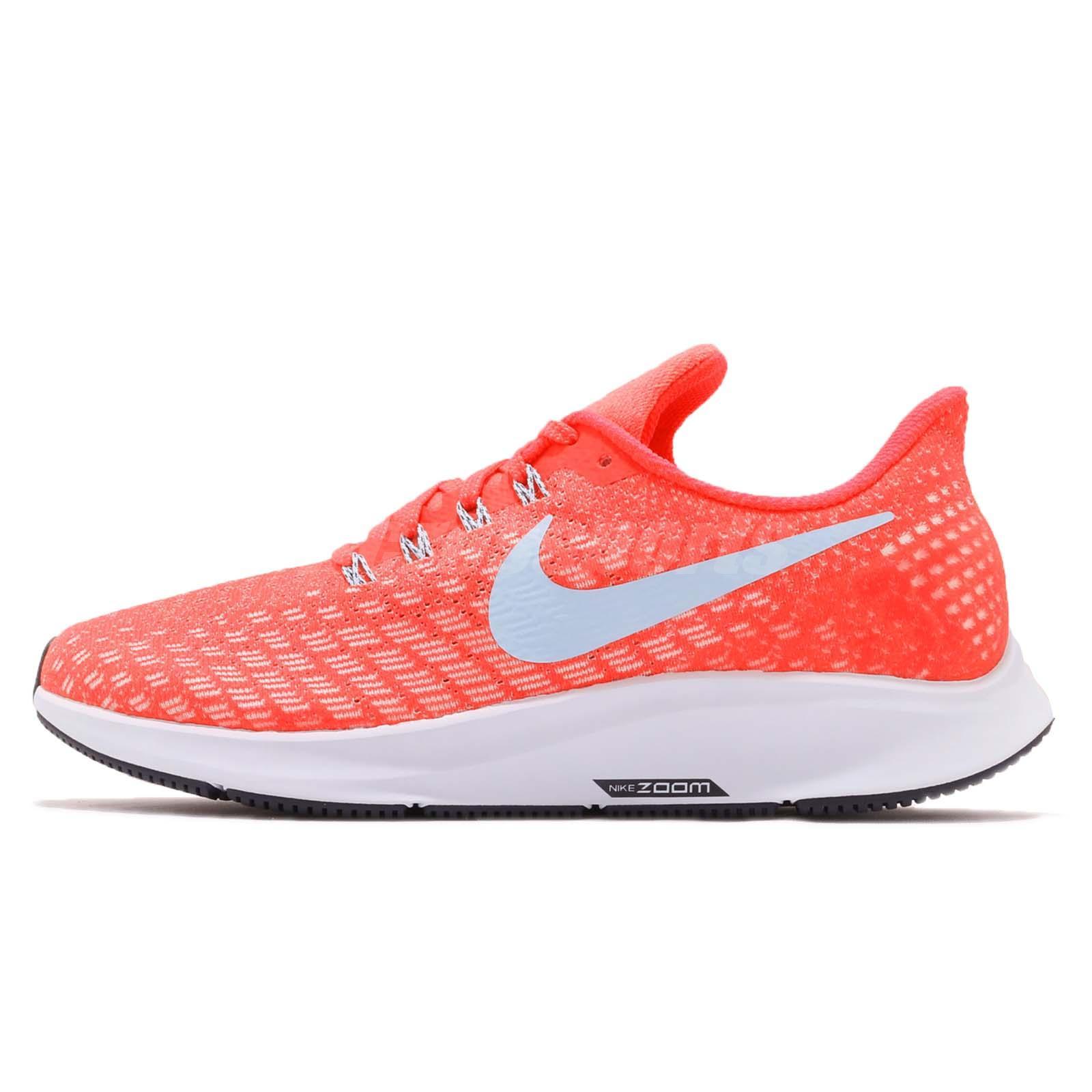 72c8ae5fb Nike Wmns Air Zoom Pegasus 35 Bright Crimson Ice Blue Sail Women Shoe 942855 -600