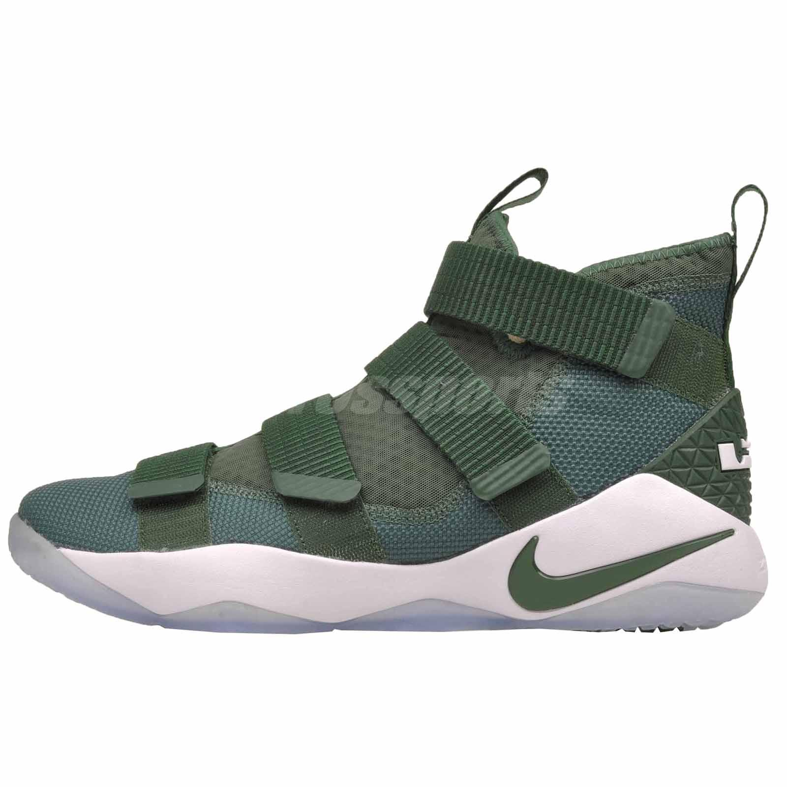 b7c0c7c855f Details about Nike LeBron Soldier XI TB Basketball Mens Shoes Fir Green  White 943155-302