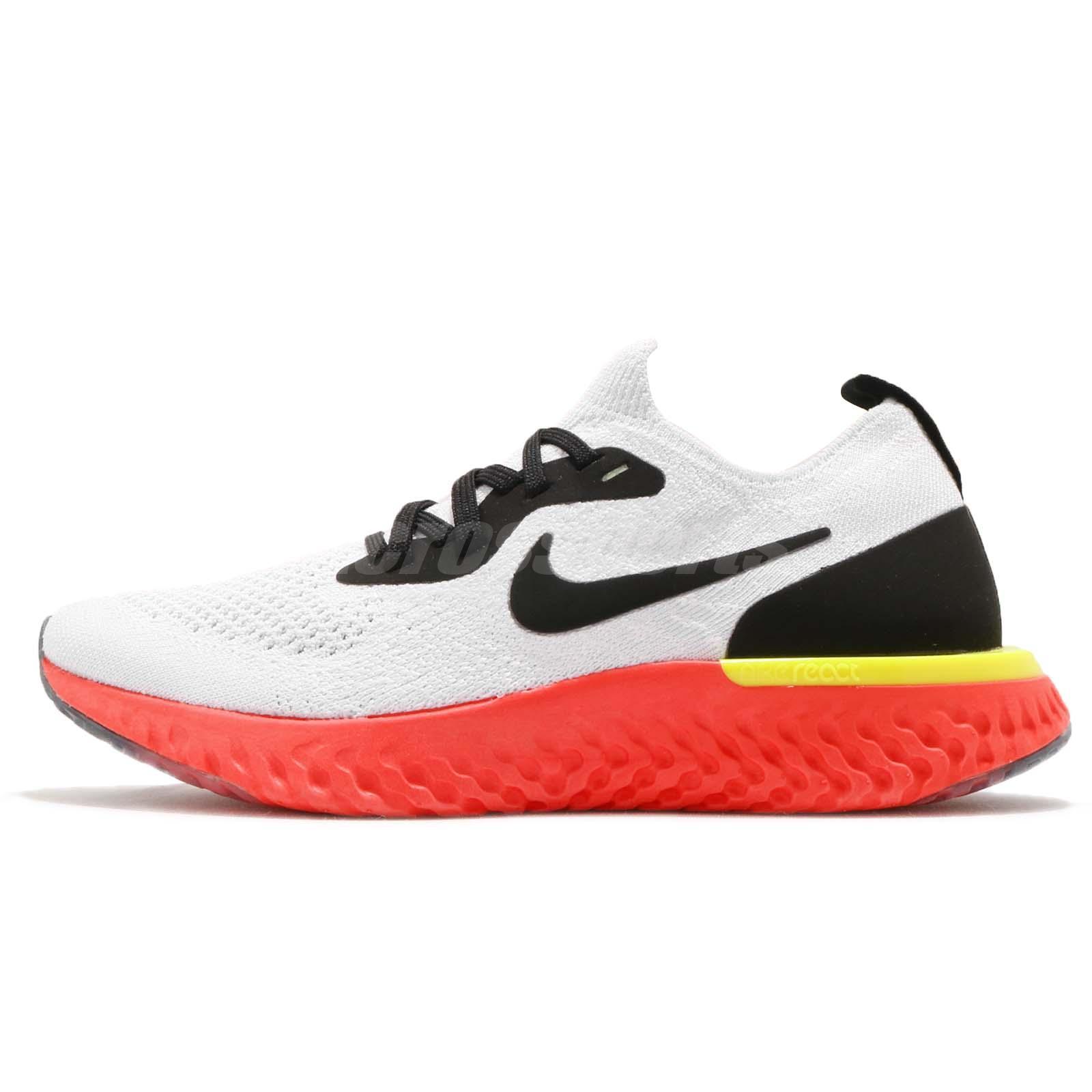 Nike Epic React Flyknit GS White Black