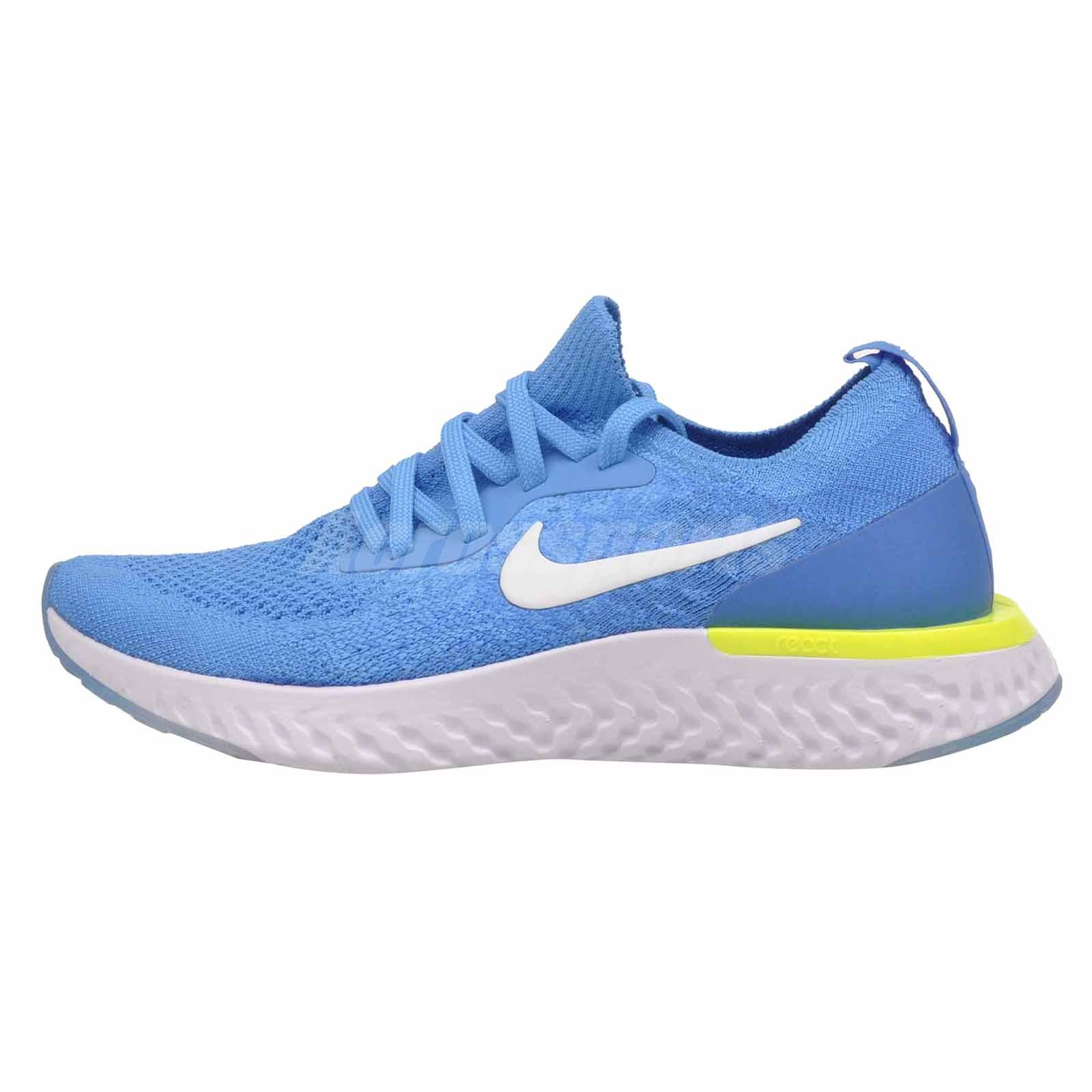 403318aae22 Nike Epic React Flyknit GS Kids Youth Running Shoes Blue Glow 943311 ...