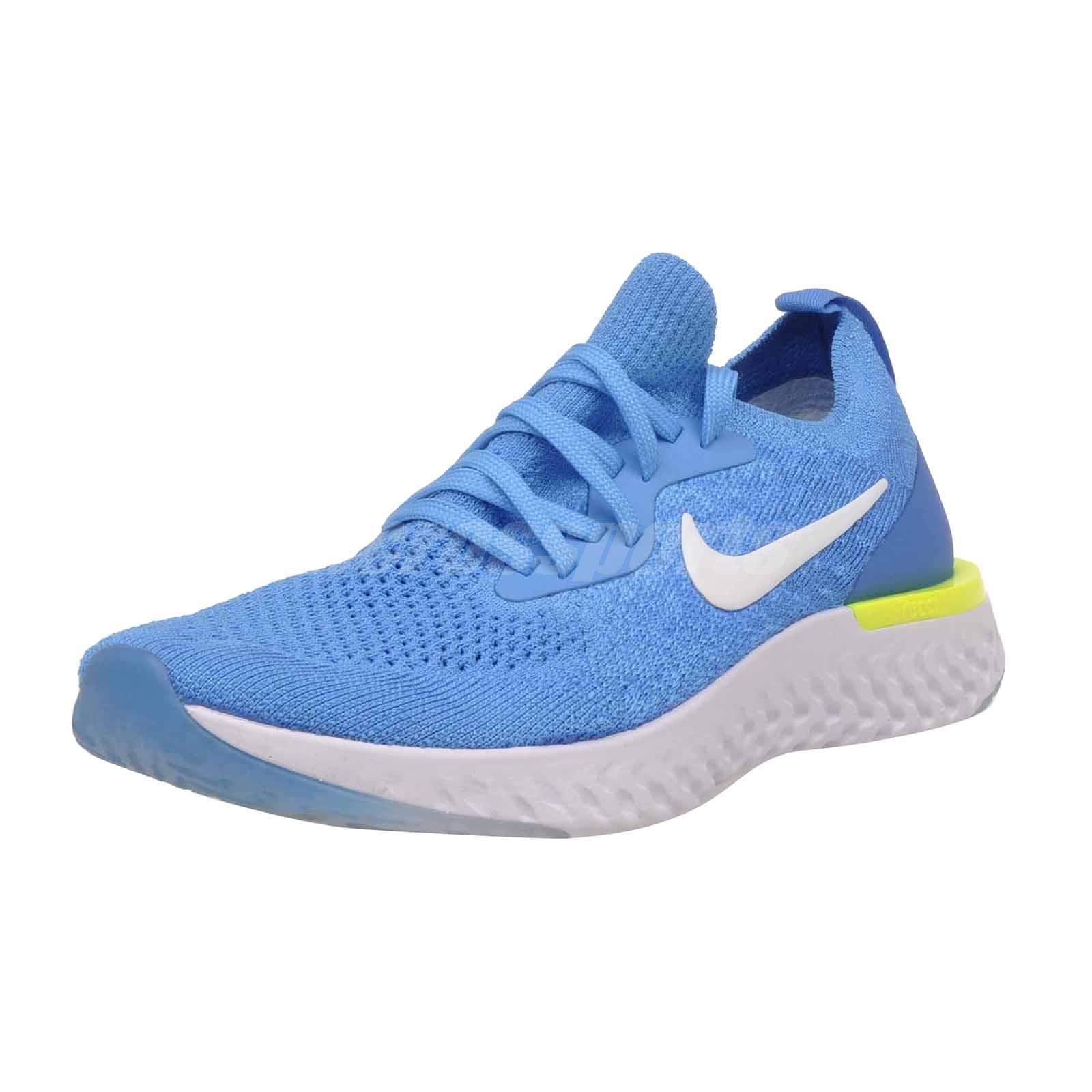 a765a84966 Nike Epic React Flyknit GS Kids Youth Running Shoes Blue Glow 943311 ...