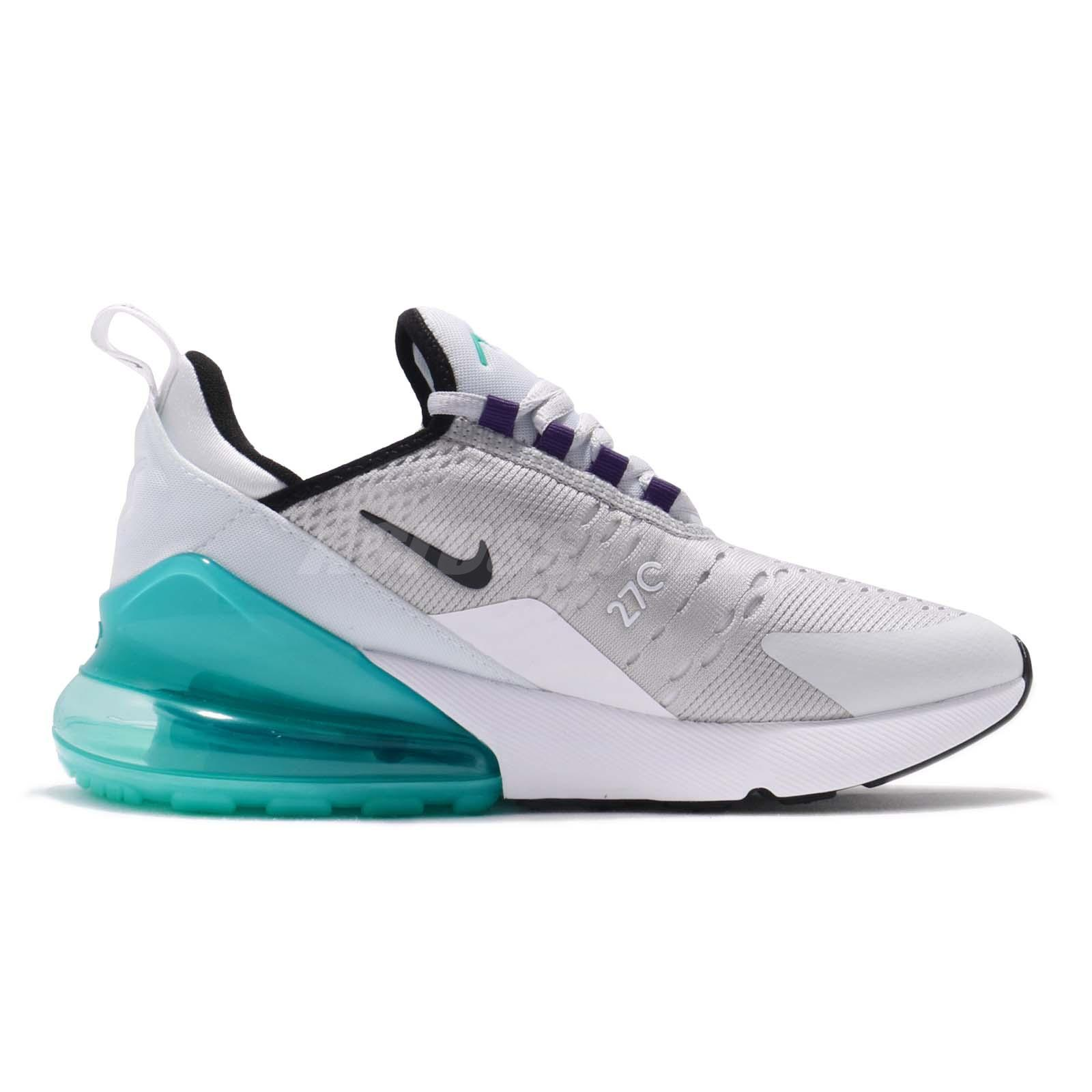 e0993f3374c2 Nike Air Max 270 GS Pure Platinum Hyper Jade Kid Women Running Shoes ...