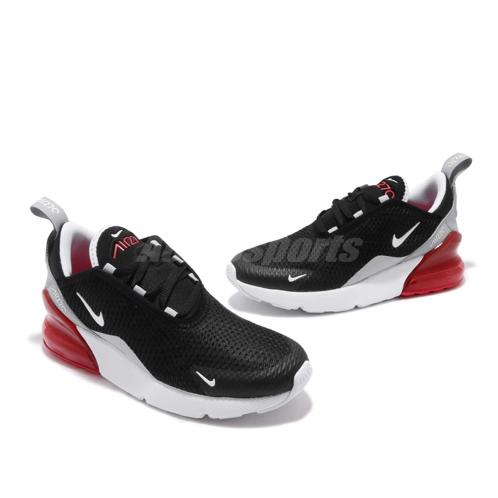 Detalles acerca de Nike Air Max 270 grade school Negro Blanco Rojo Niños Mujeres Tenis para Correr 943345 013 mostrar título original