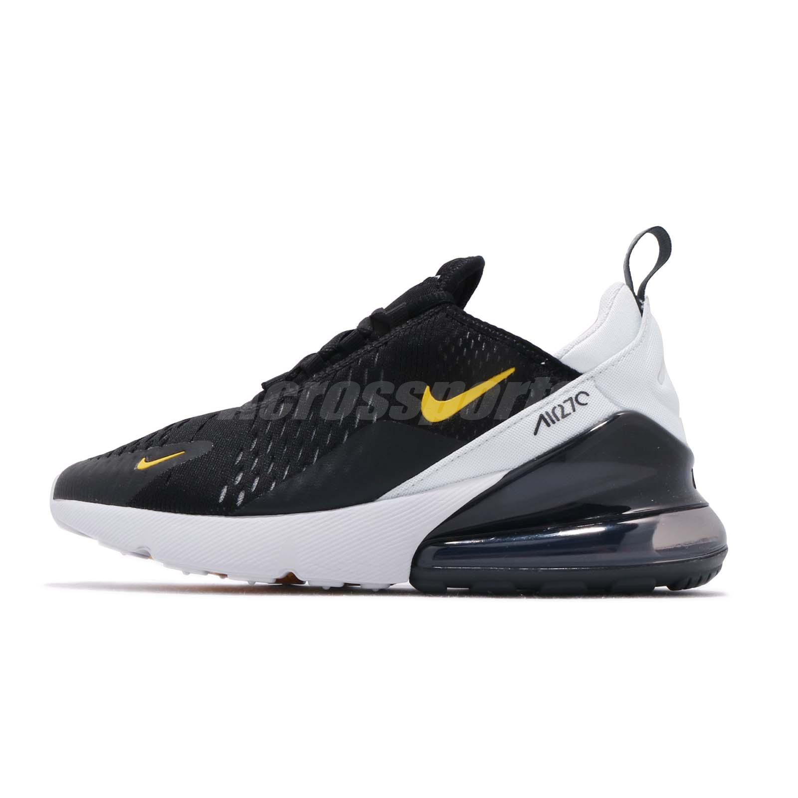 Details about Nike Air Max 270 GS Black Amarillo Yellow Kid Youth Women Shoes 943345 016