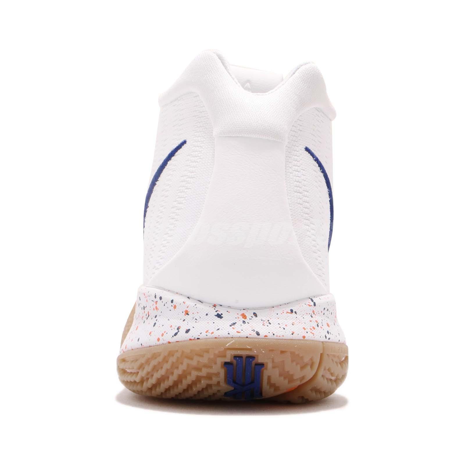 90a93c32654d Nike Kyrie 4 EP IV Uncle Drew Irving White Deep Royal Gum Men Shoes ...