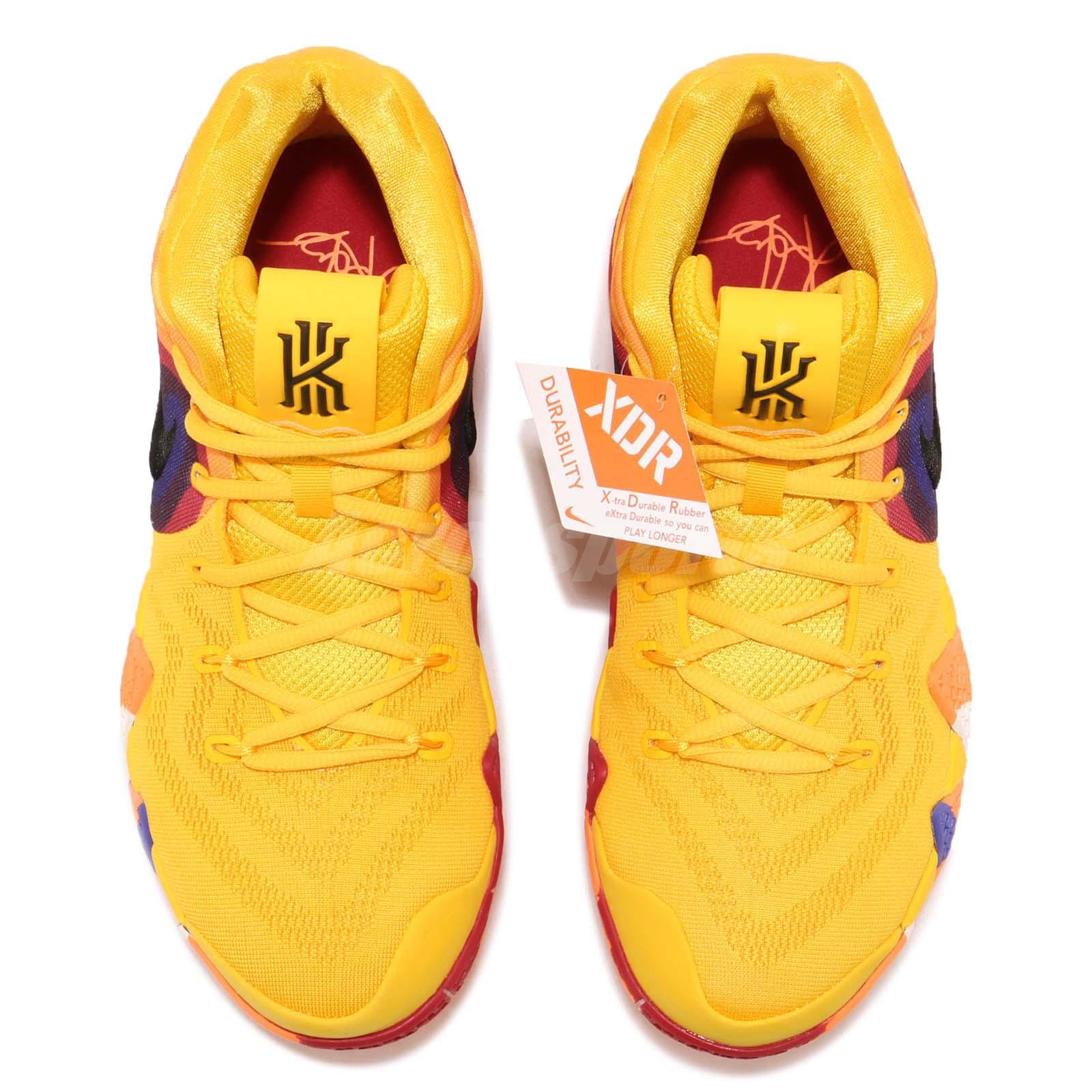 66735ff7531 Nike Kyrie 4 EP 70s Uncle Drew Decades Pack Yellow Basketball Shoes ...