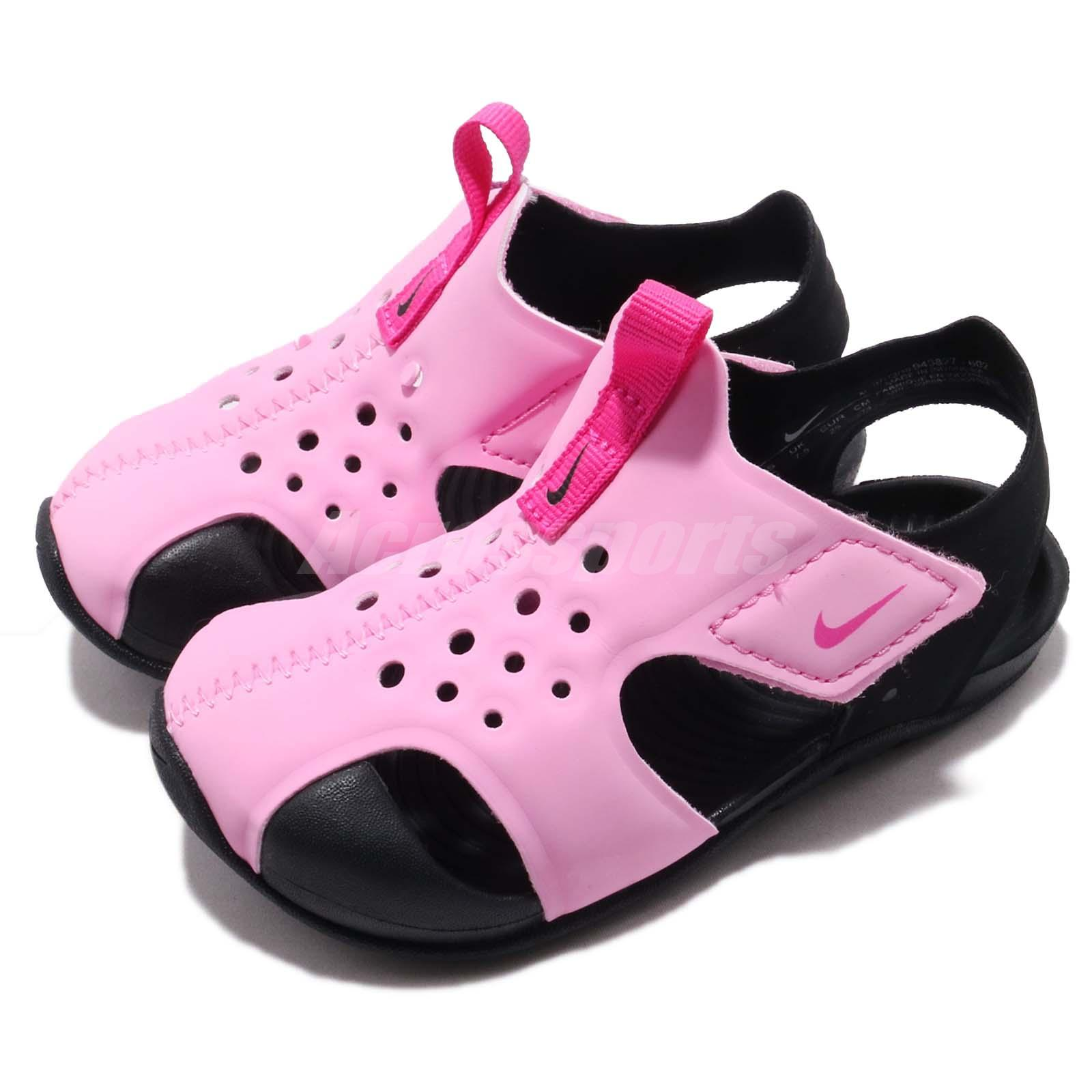 02c9e0c9607c Details about Nike Sunray Protect 2 TD Psychic Pink Toddler Infant Sandals  Shoes 943827-602