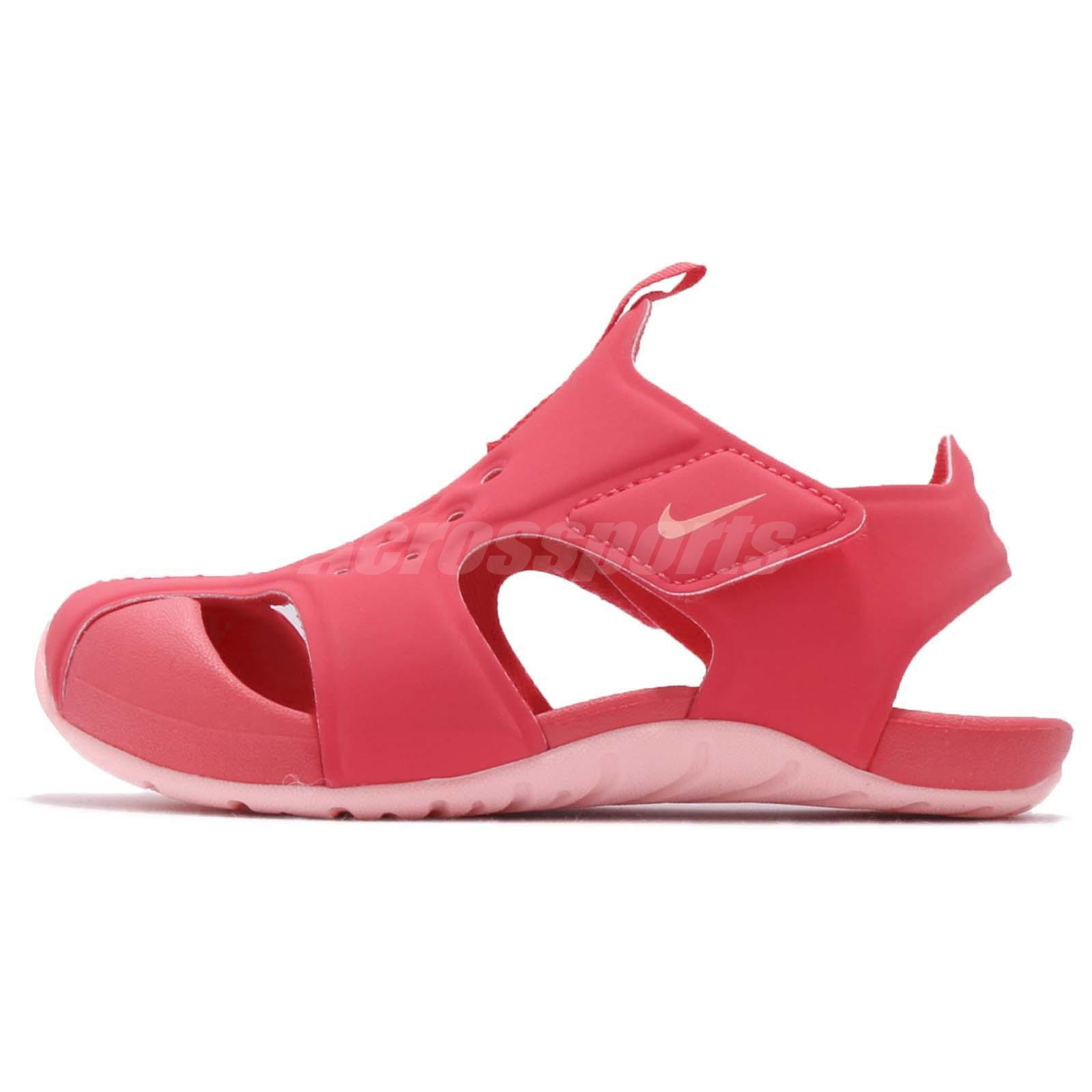 e52cc7c26086 Nike Sunray Protect 2 TD II Tropical Pink Coral Toddler Infant Sandal  943829-600