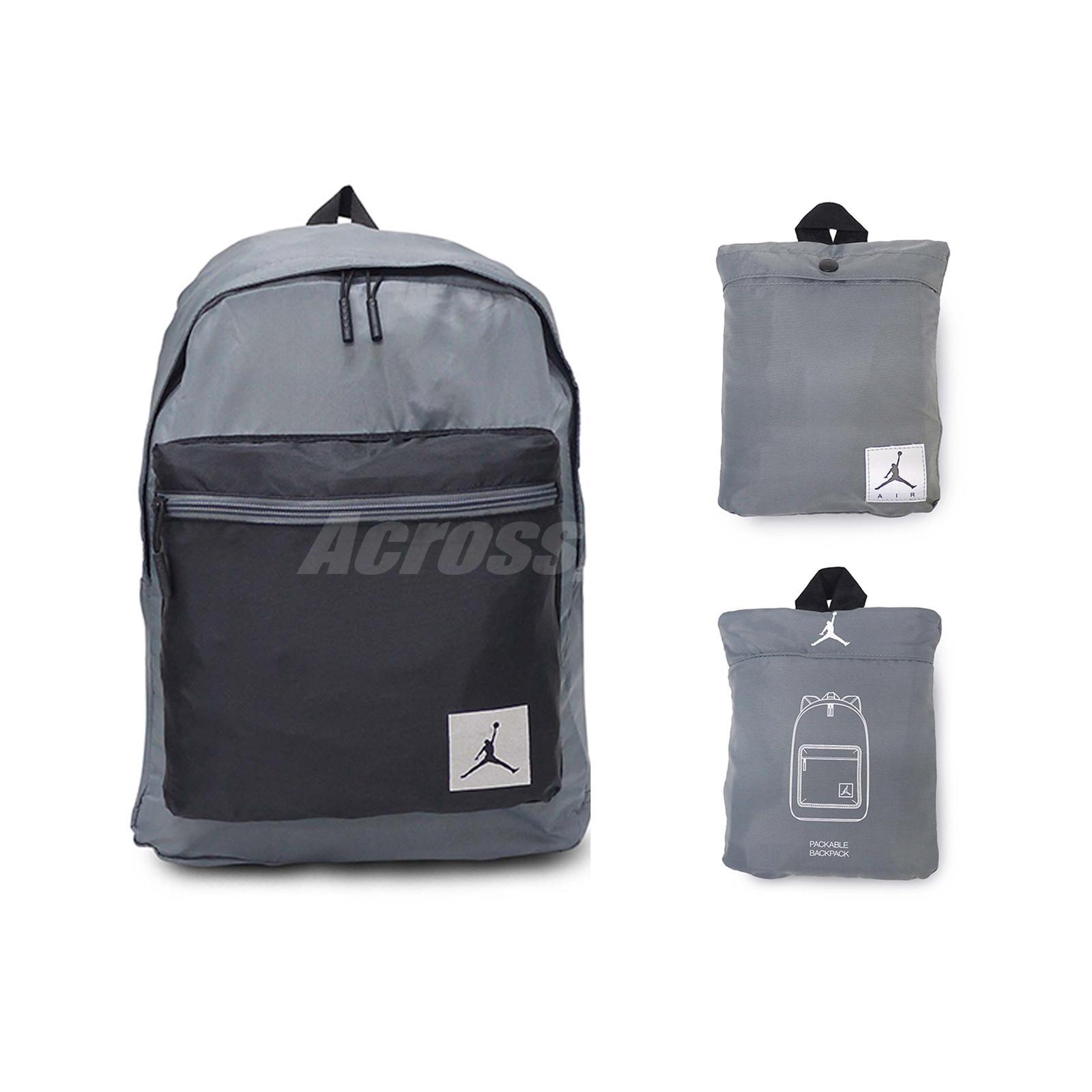 Details about Nike Jordan Skyline Flight Mini Packable Grey Black Travel  Backpack 9A0014-G3X 316e03ea78a92
