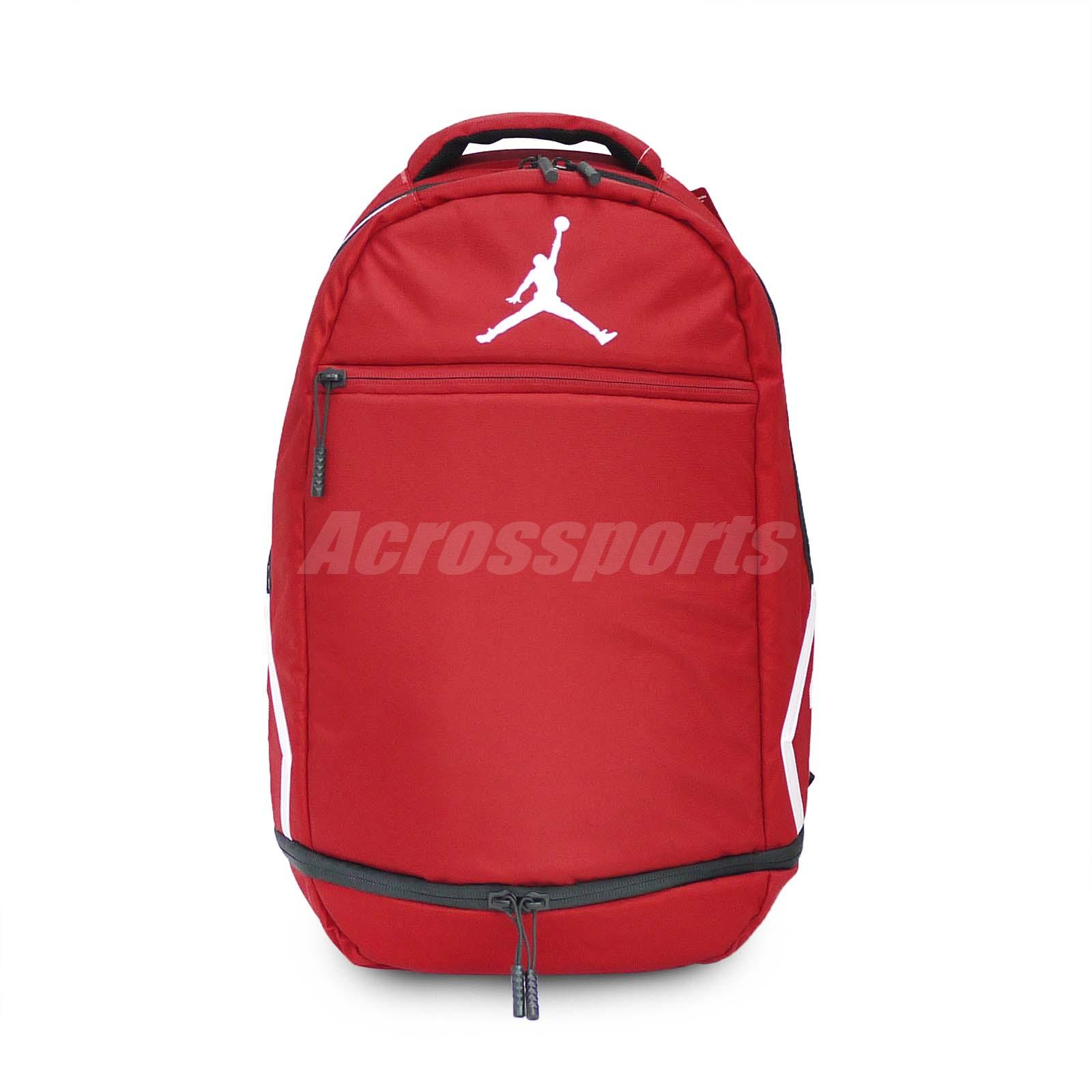 14a63541c0 Details about Nike Jordan Skyline Rise Pack Red White Jumpman 23 Backpack  Daypack 9A0058-R78