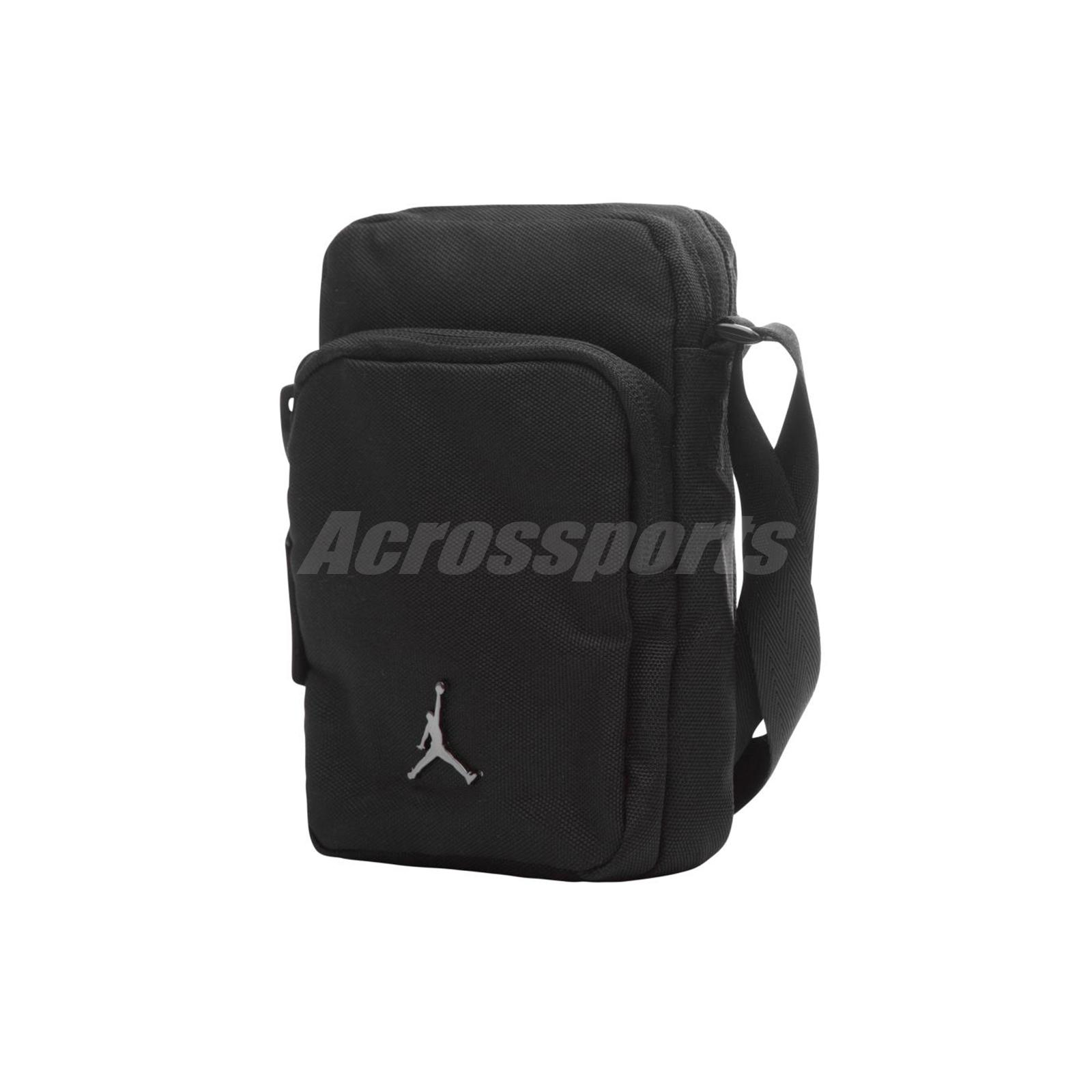 Nike Jordan Airborne Crossbody Shoulder Bag Small Mini Handbag Black ... 90d88e768