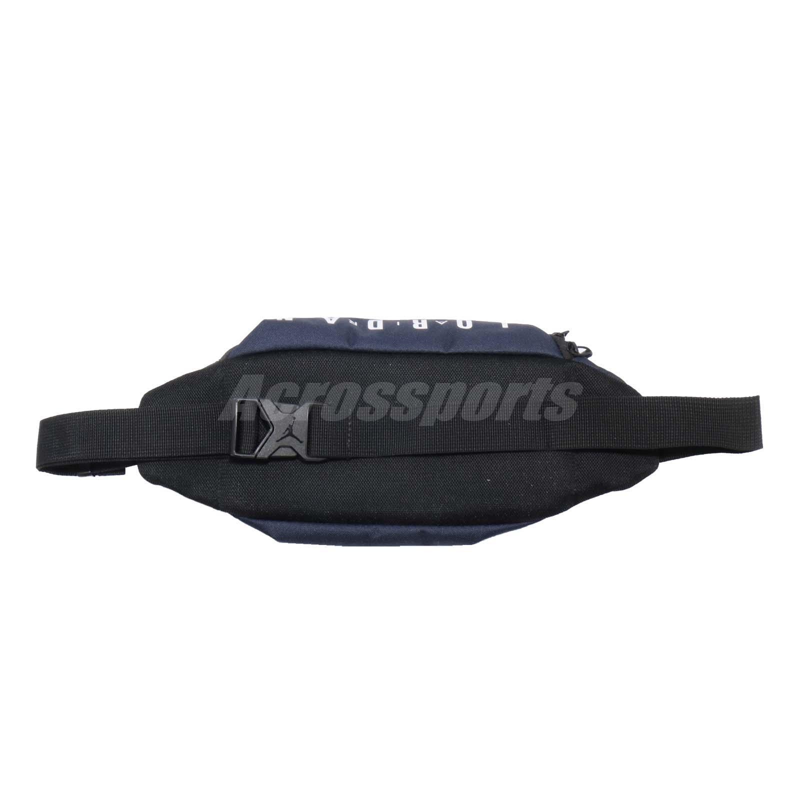 Nike Air Jordan Crossbody Waist Bag Fanny Pack Belt Bum 4L Navy Blue ... f0538cc18dad