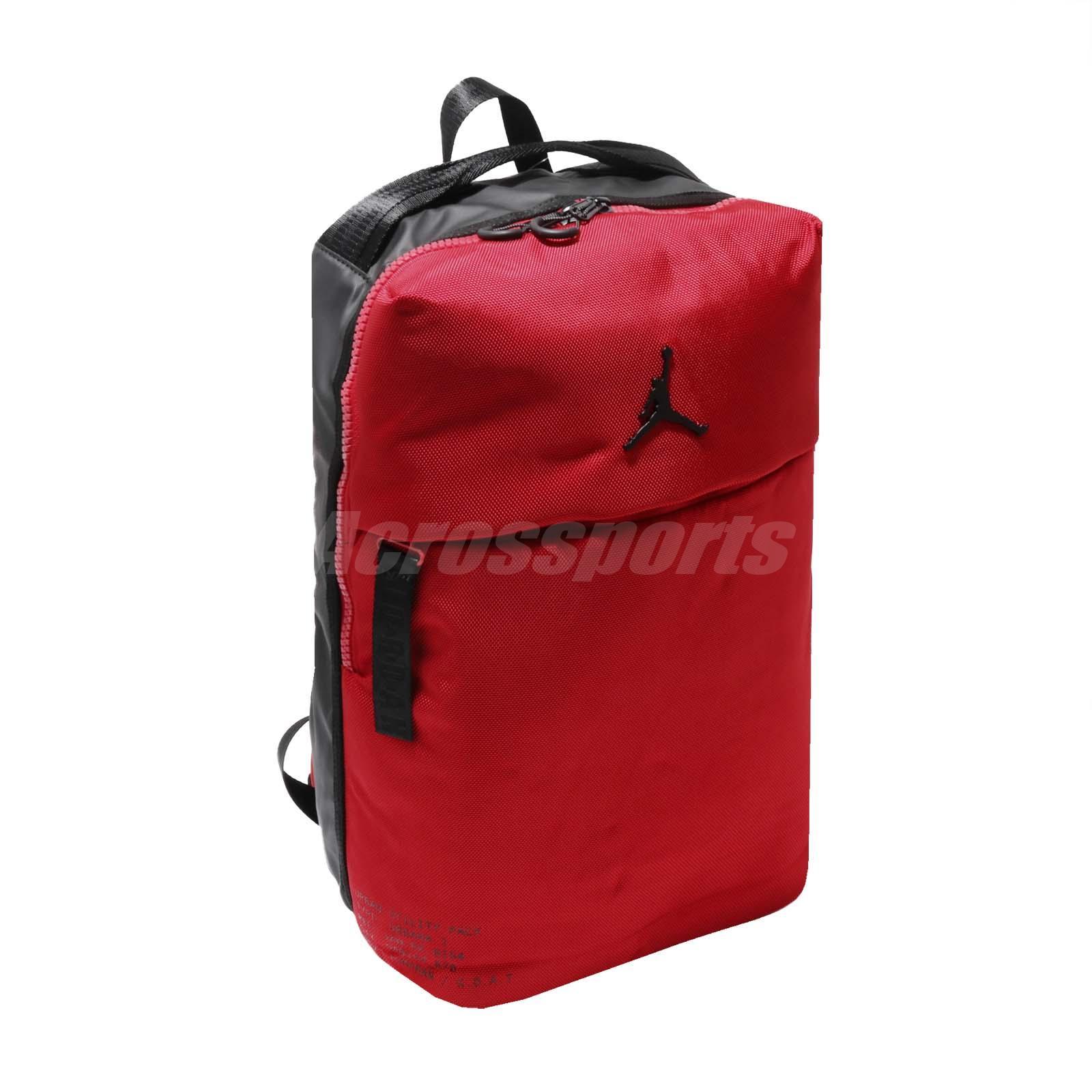 924b4a31eaf5fb Details about Nike Jordan Urbana 1 Pack Large 25L Backpack Bookbag Bag Red  Black Laptop Sport