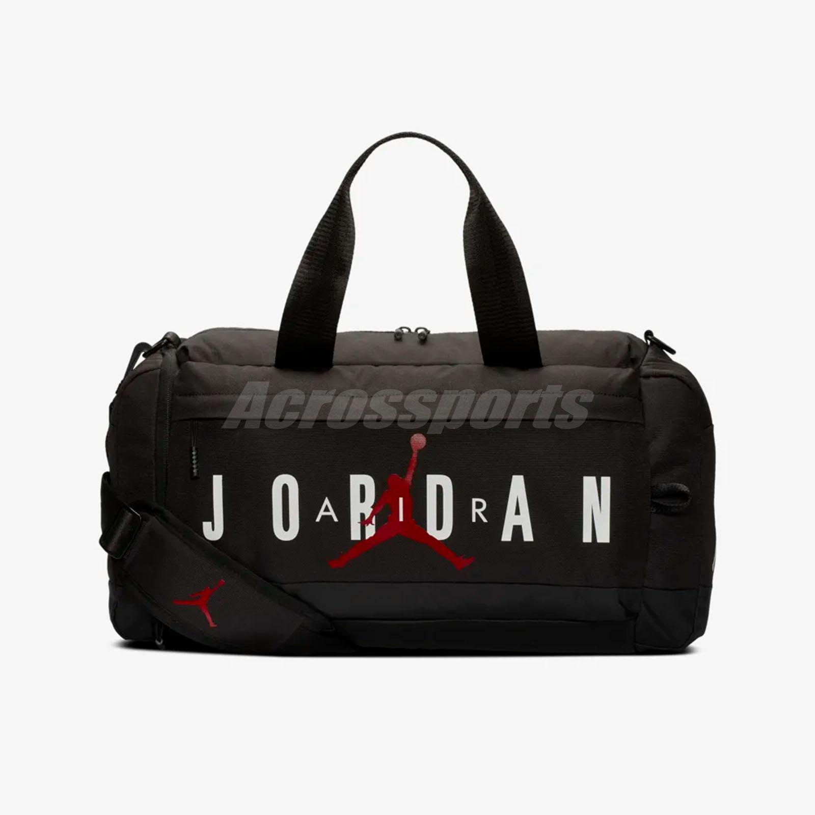 a2685dfb75dc Nike Air Jordan Duffle Duffel Bag 36L Jumpman Black White Red Training  Travel