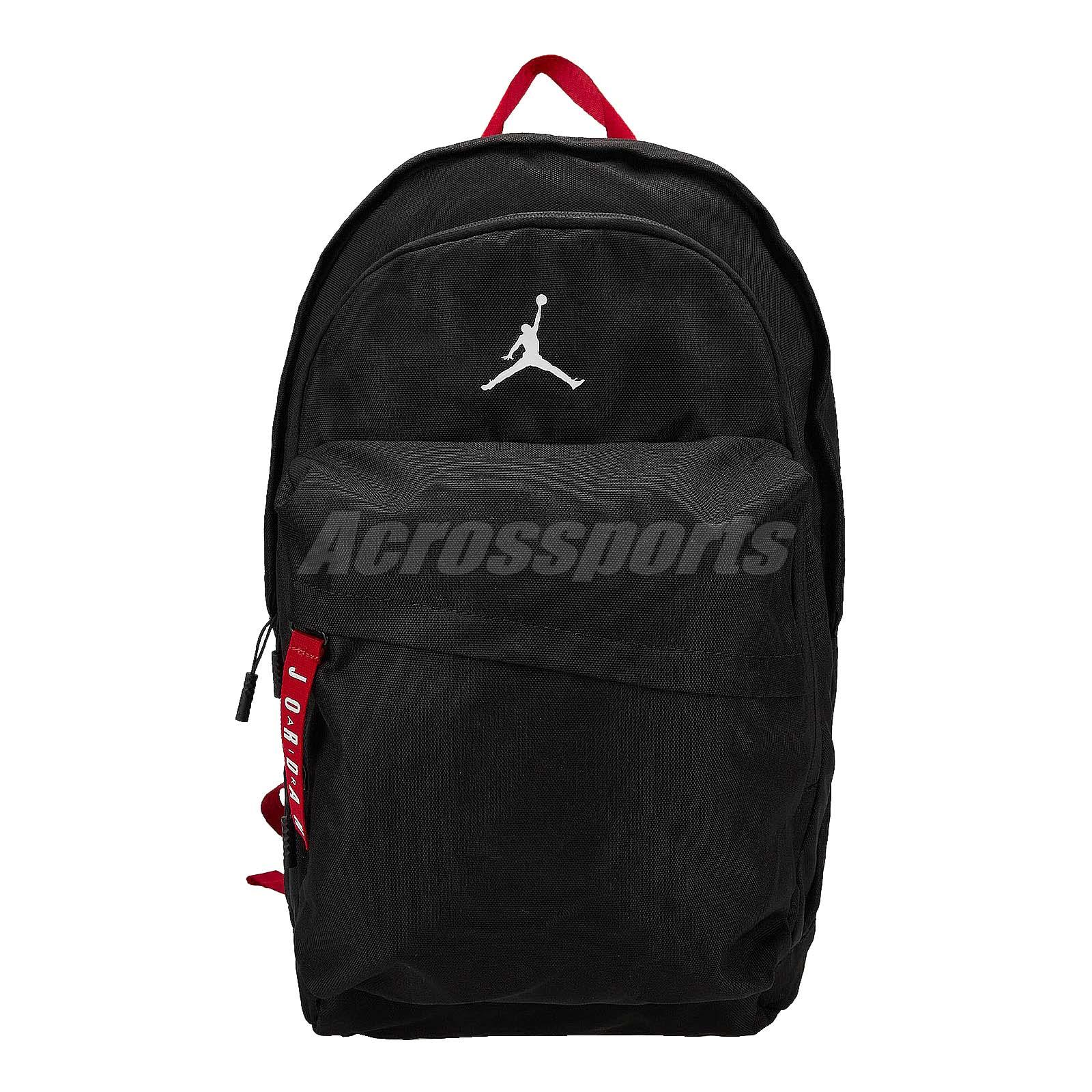 15a02216fb Nike Jordan Air Patrol Pack 27L Large Black White Red Backpack Bag ...