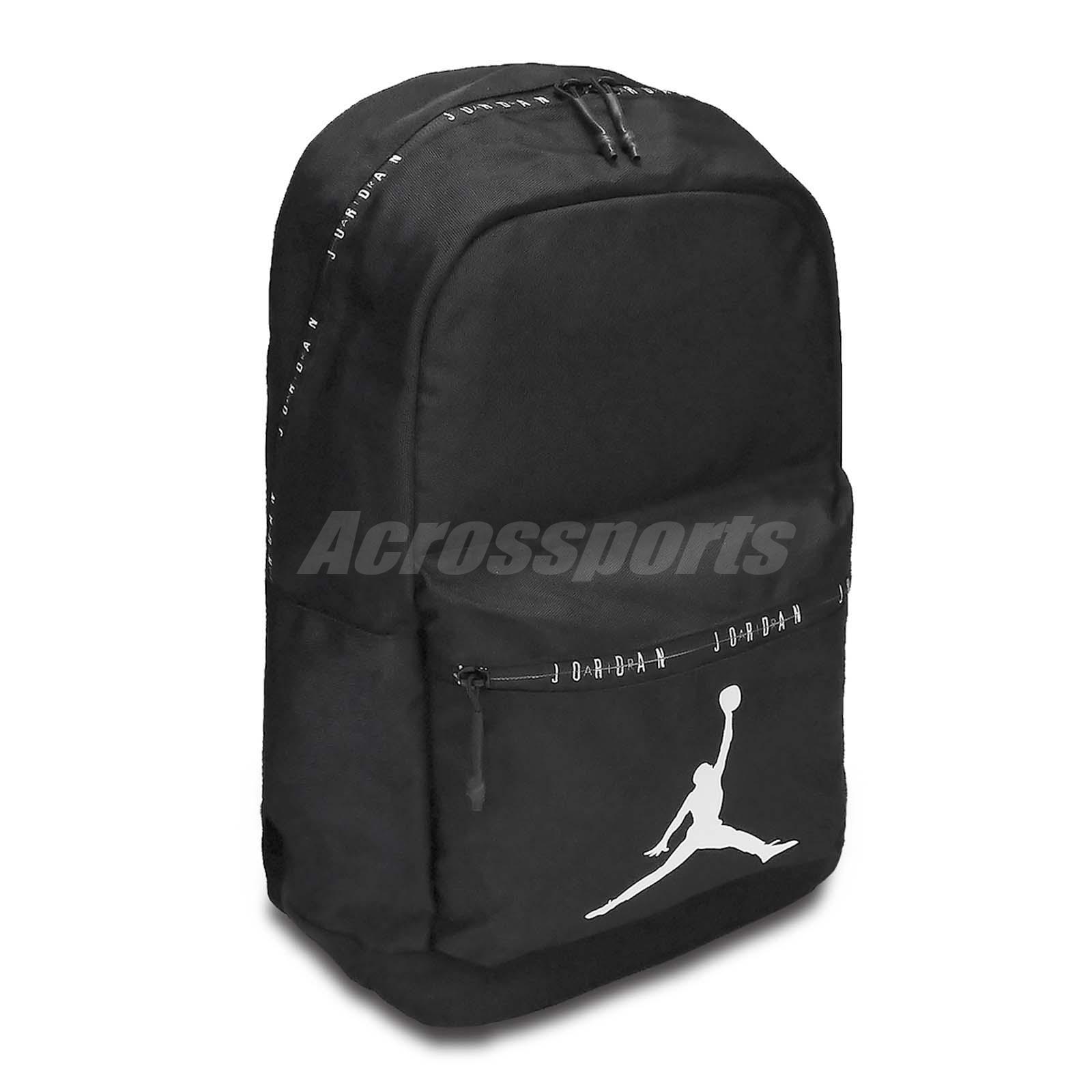 b255baa7a6ff2c Nike Jordan DNA Pack Backpack Black White Jumpman AJ Bag Rucksack 9A0207-023