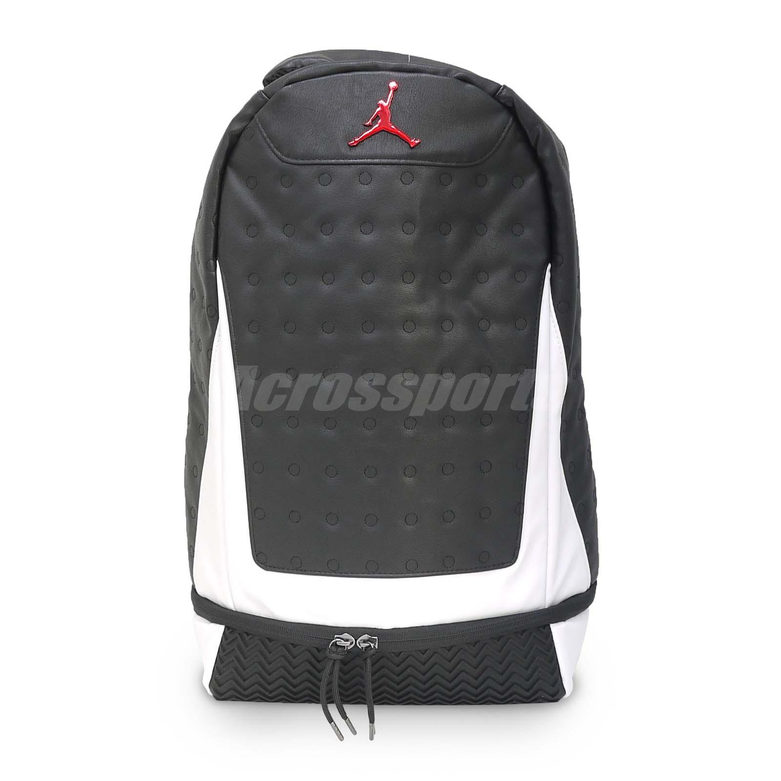 Details about Nike Jordan Retro 13 XIII Pack He Got Game Panda White Black  Backpack 9A1898-186 c239bc1526ba4