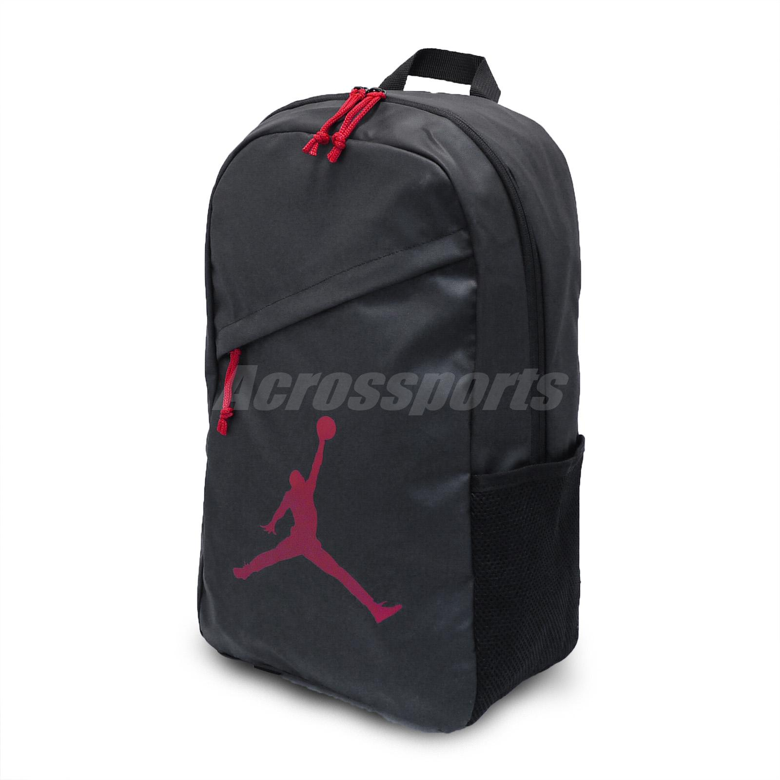 Details about Nike Jordan Flight Backpack Black Red Jumpman Gym School Book  Bag 9A1910-KR5 6603018682ef9