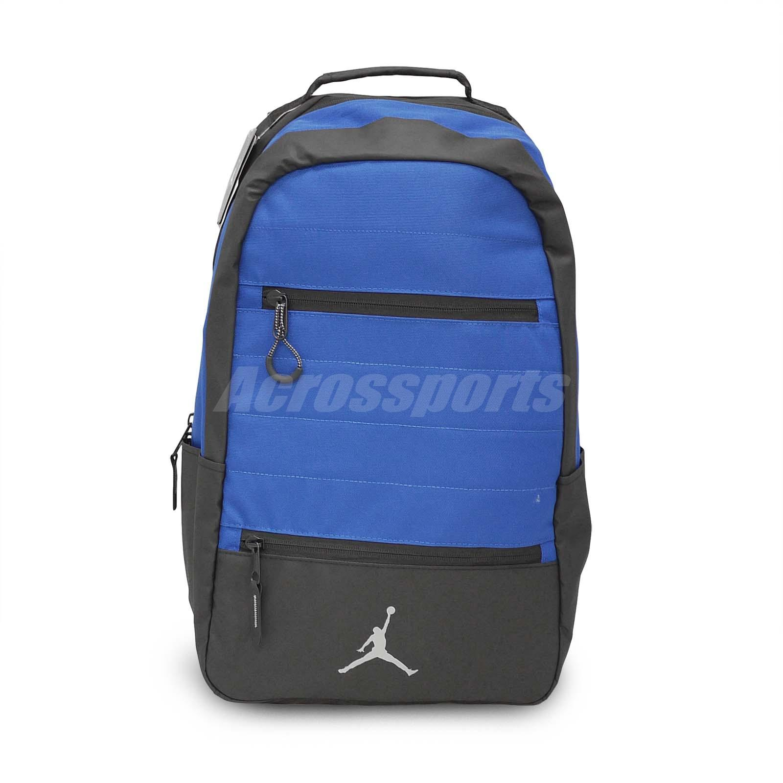 dcbc57987630 Details about Nike Jordan Airborne Pack Blue Black Laptop Water Resistan  Backpack 9A1944-U1X