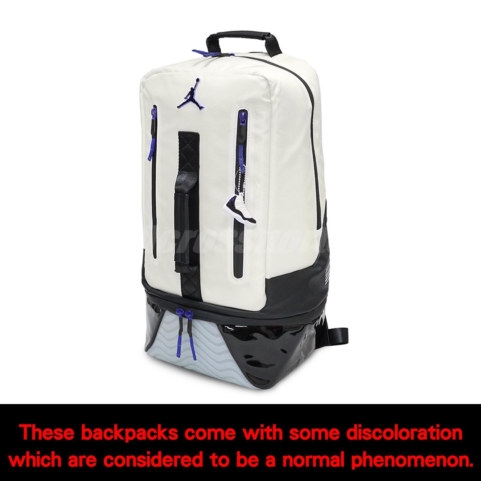 d49faa172e39 Nike Jordan Retro 11 Concord XI White Black Air Backpack Bookbag 2018 9A1971 -637