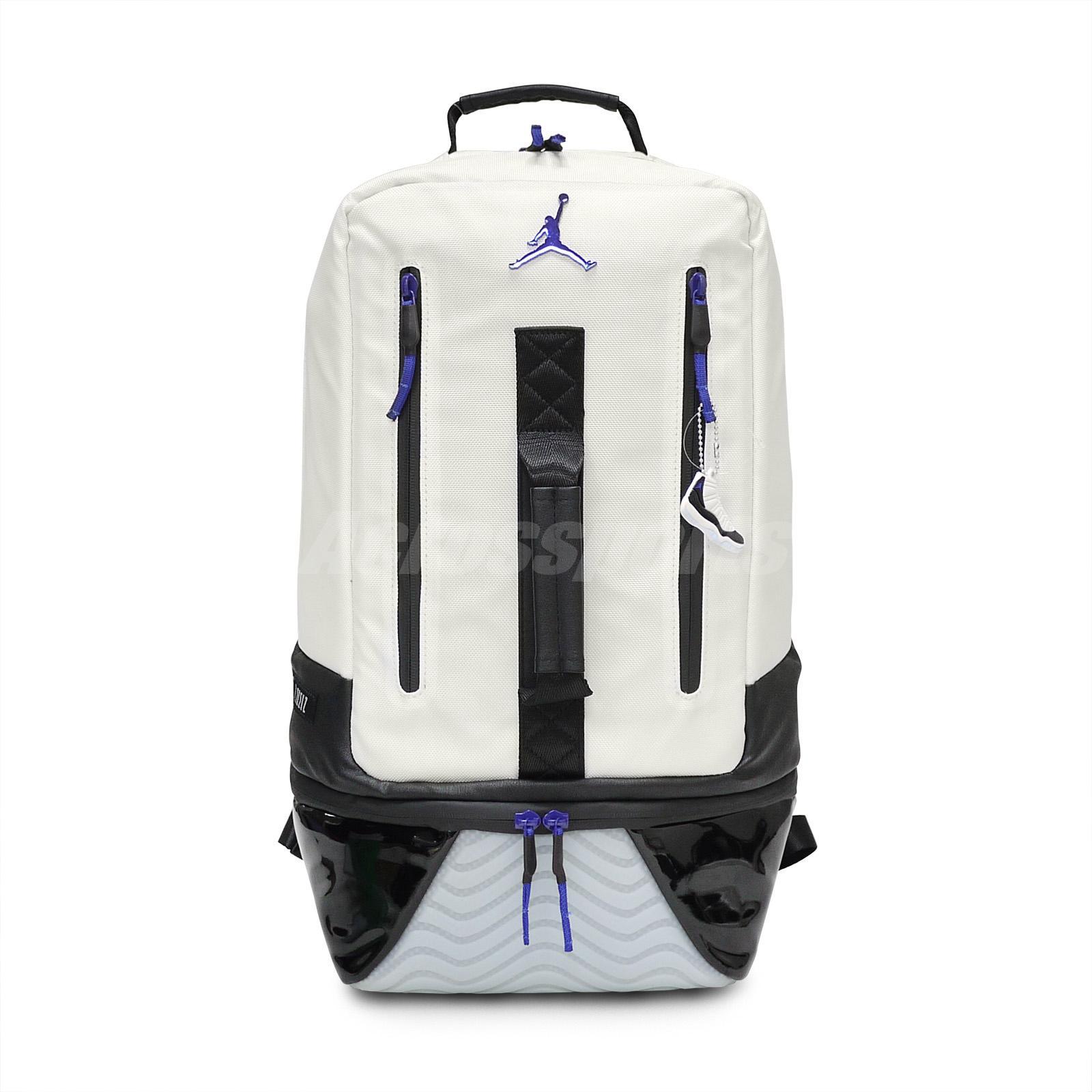 fc6543f65c0b Nike Air Jordan Retro 11 Concord XI White Black Backpack Bookbag ...