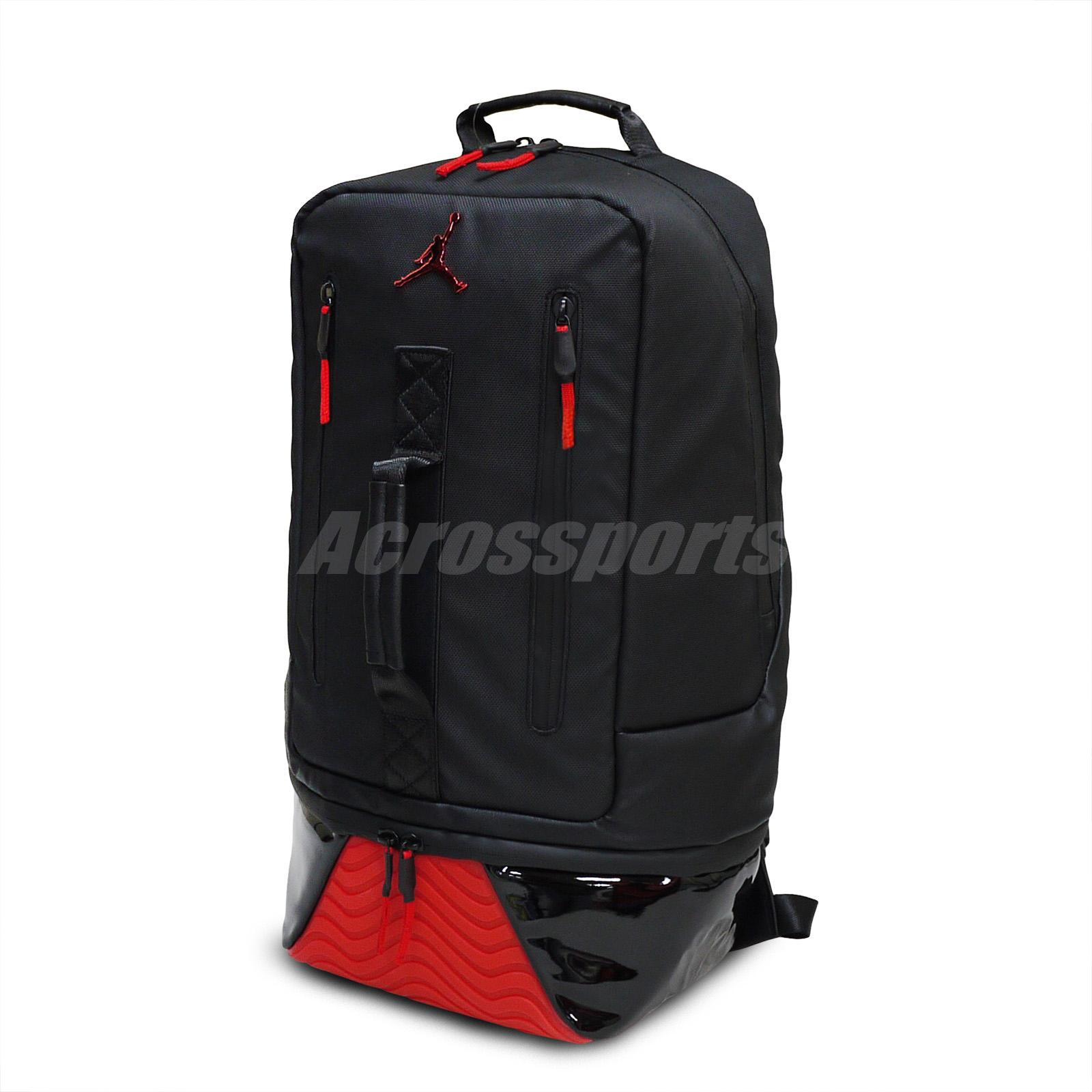 4d24bd37bcf Details about Nike Air Jordan Retro 11 XI Pack Bred Black Red Basketball  Gym Backpack Bookbag