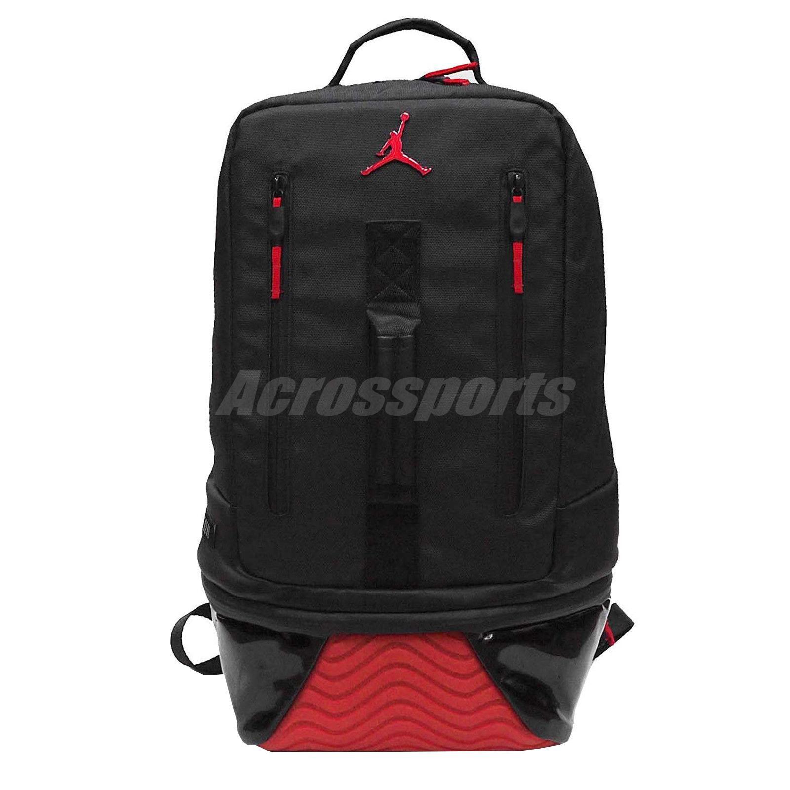 d1efbd530f8b85 Details about Nike Air Jordan Retro 11 XI Pack Bred Black Red Basketball  Gym Backpack Bookbag