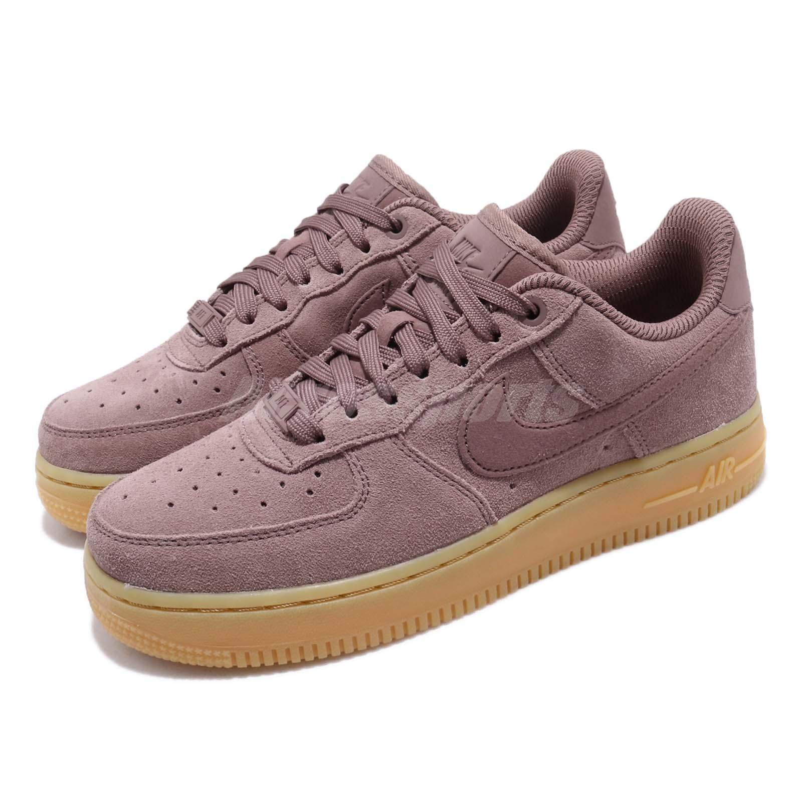 nike air force 1 07 trainers smokey mauve gum