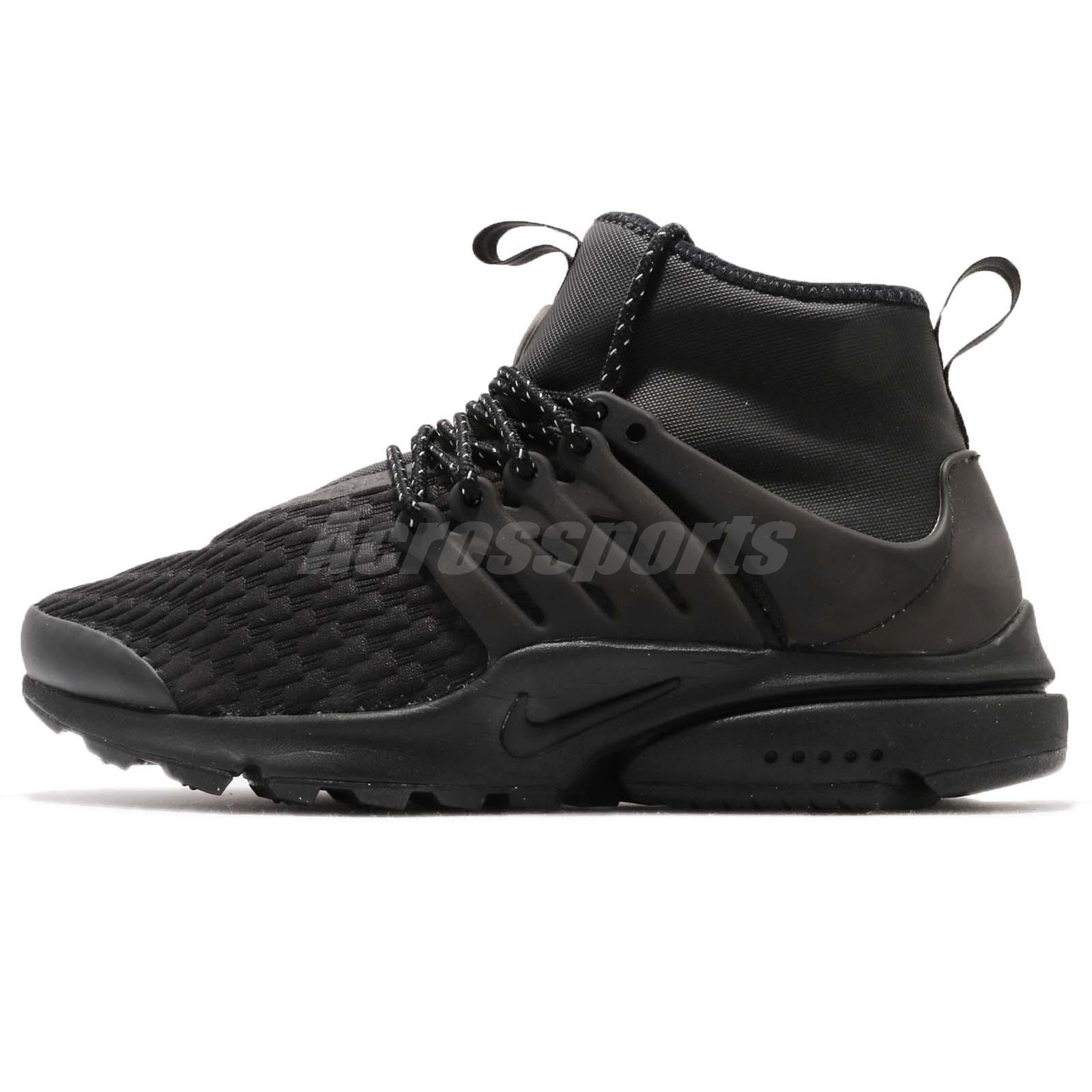 brand new aa107 800dd Nike Wmns Air Presto Mid Utility PRM Black Womens Casual Shoes AA0674-003