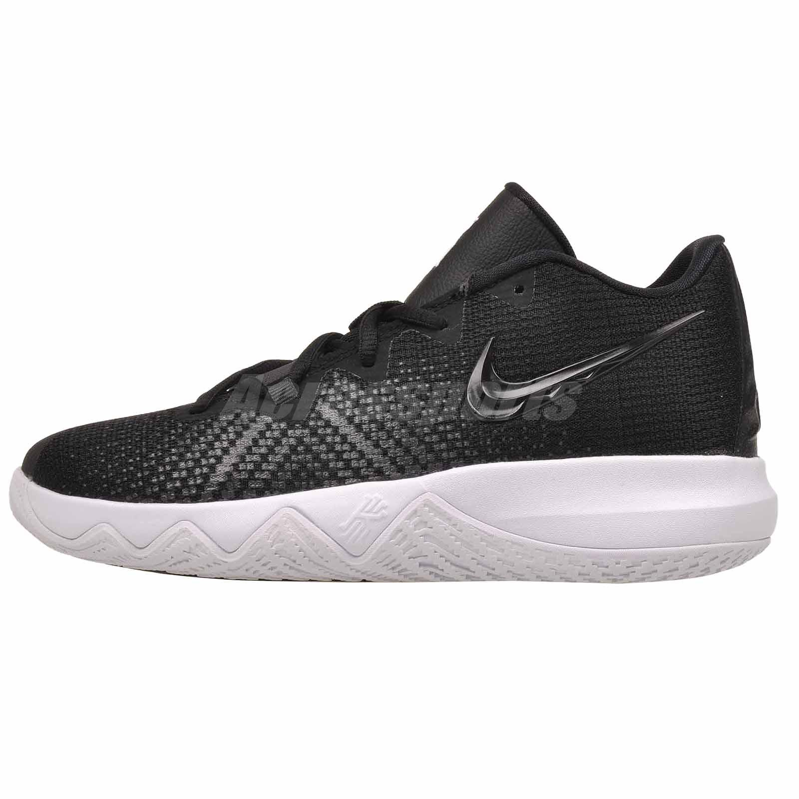 cheap for discount ce8dc 06524 Nike Kyrie Flytrap GS Basketball Kids Youth Shoes Black White AA1154-001