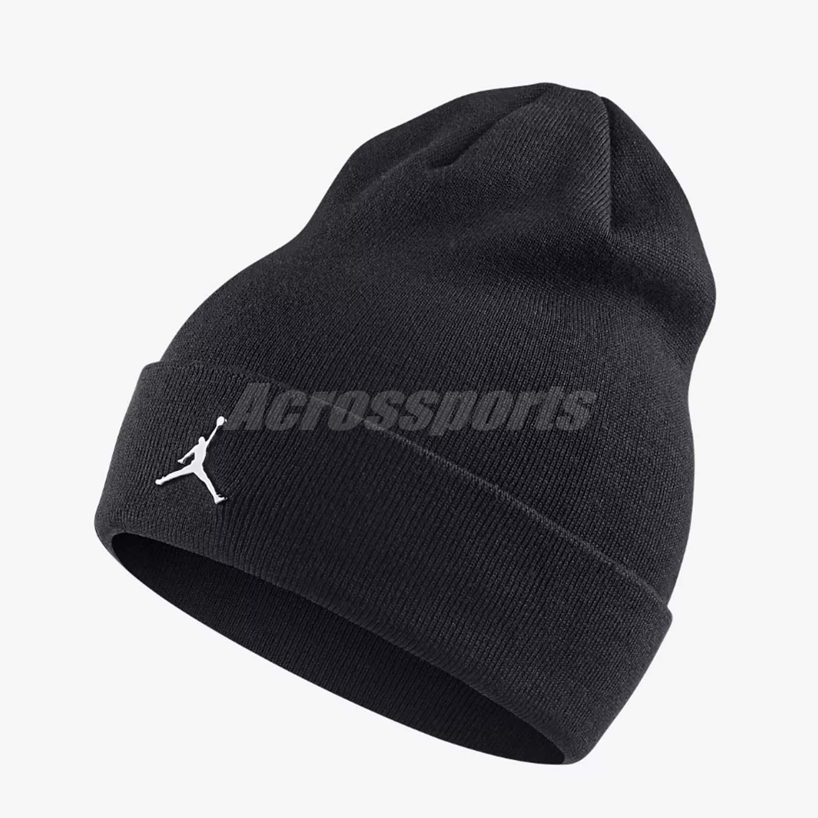 f98e634bf73 Nike Air Jordan Beanie Cuffed Winter Knit Warm Hat Jumpman Gym Black  AA1297-010