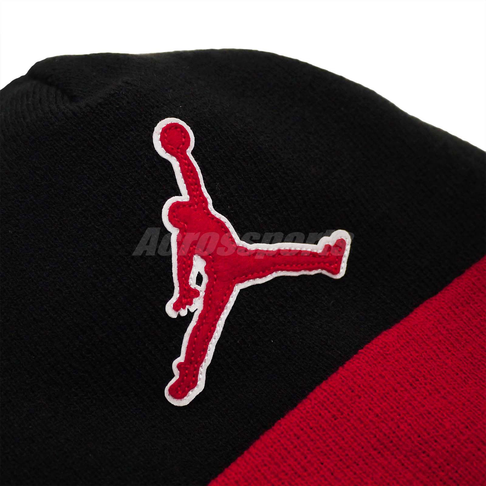4cbbeb5989cf Nike Air Jordan Beanie Graphic Knit Winter Warm Hat Jumpman Sport ...