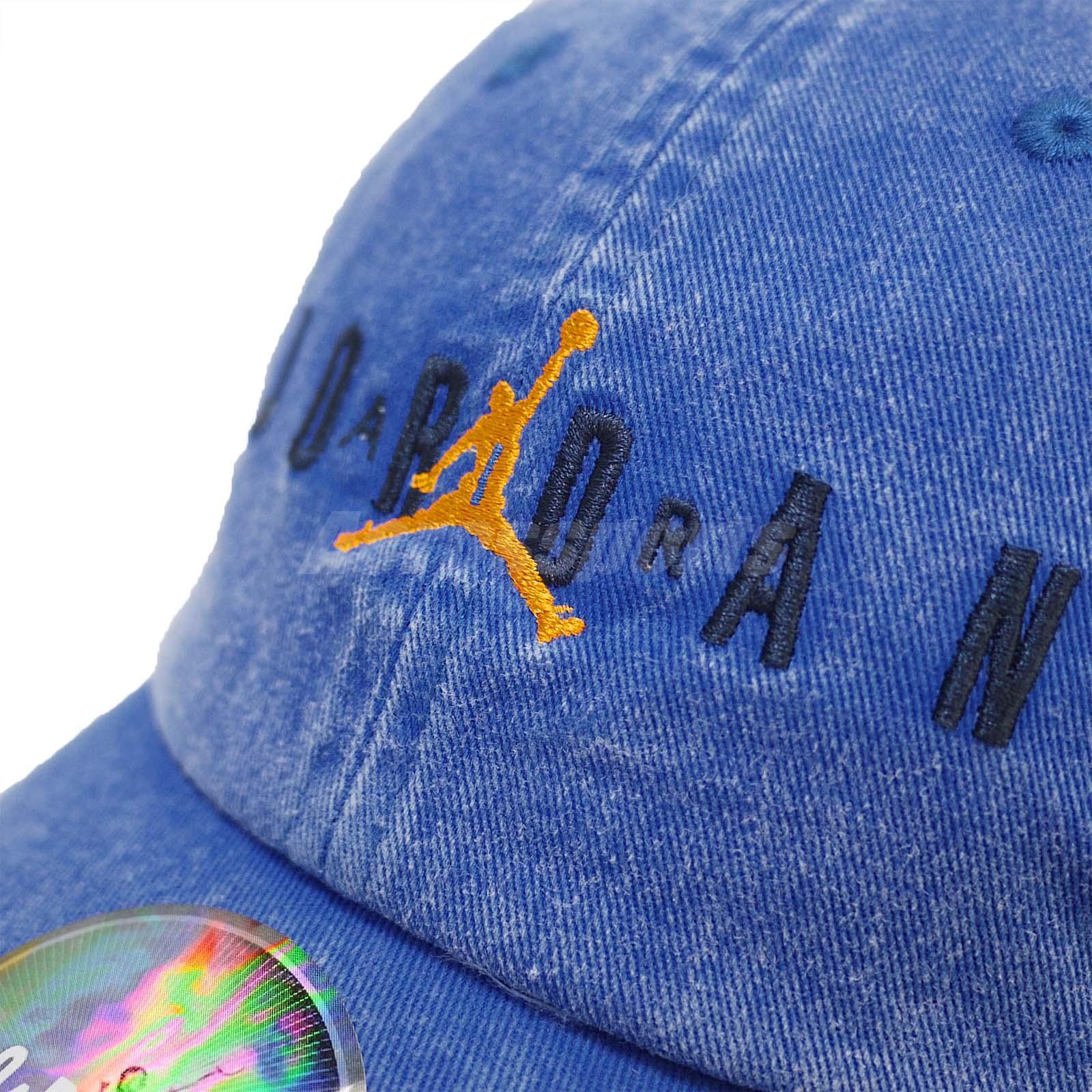 size 40 45abd 2a235 Nike Jordan Heritage Jumpman Adjustable Cap Air Hat H86 Washed Blue ...