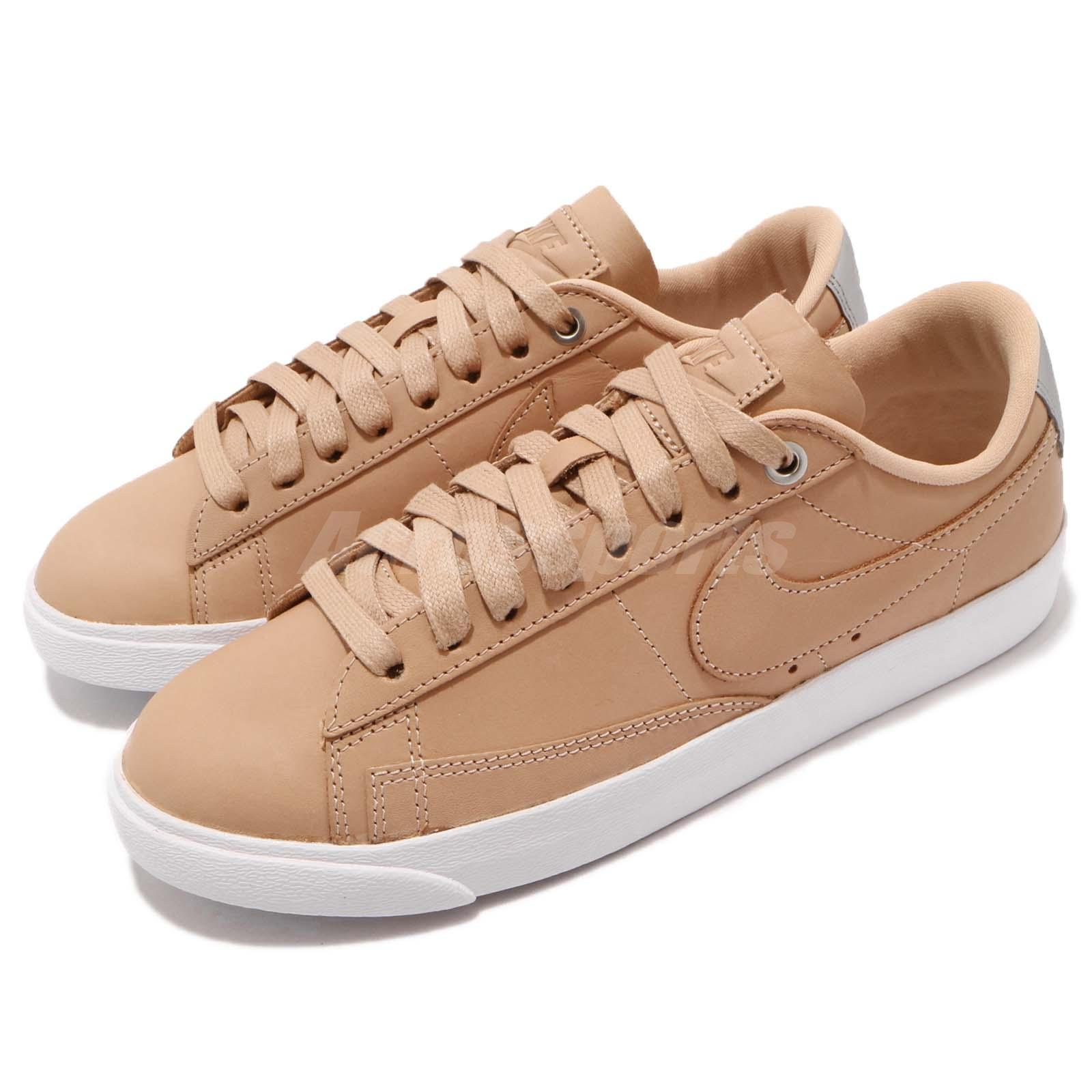 Nike Wmns Blazer Low SE PRM QS Beige Vachetta Tan White Women Shoes AA1557200