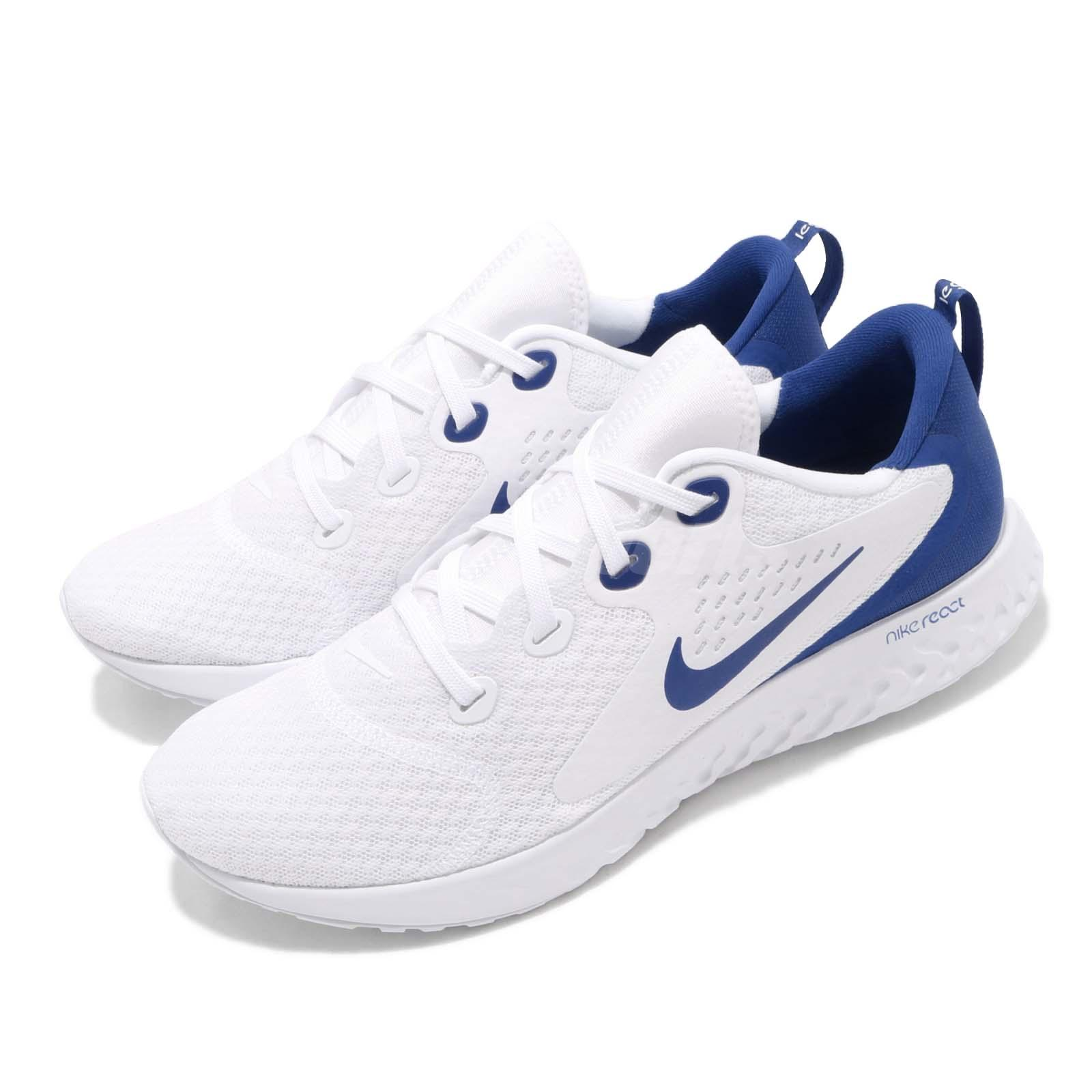 208e03150956 Details about Nike Legend React White Game Royal Blue Men Running Shoes  Sneakers AA1625-101